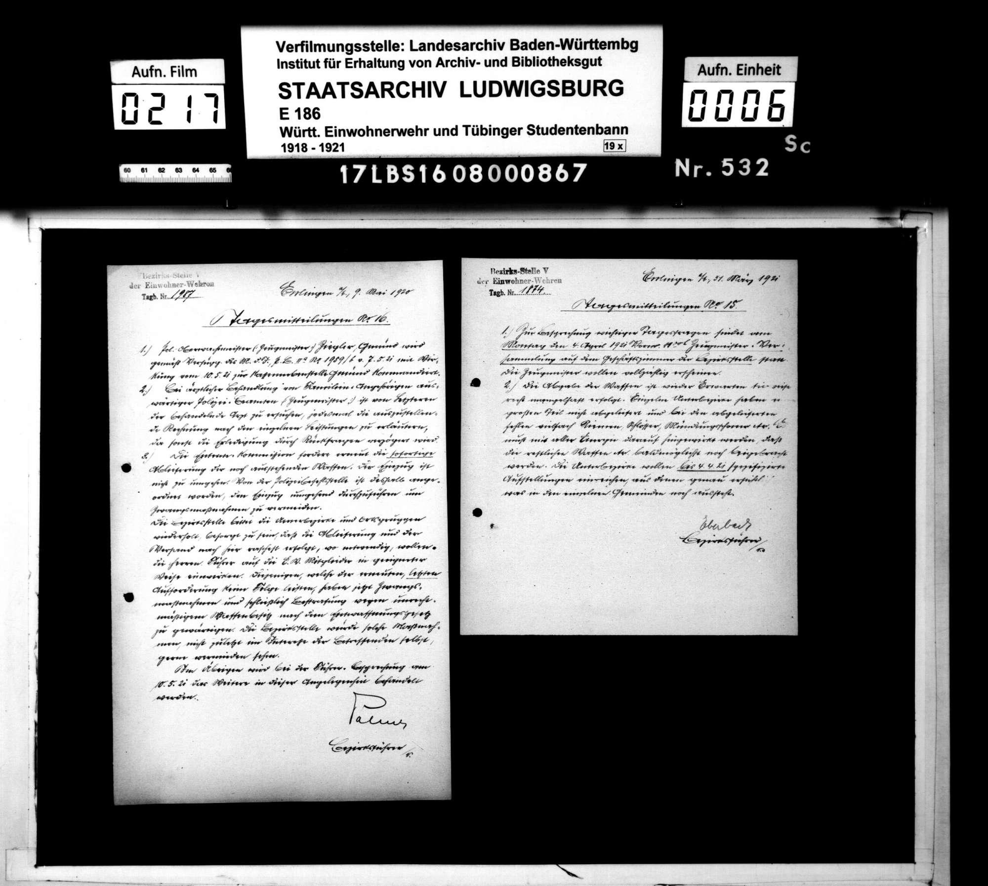 Tagesmitteilungen der Bezirksstelle 5 Esslingen, Bild 3