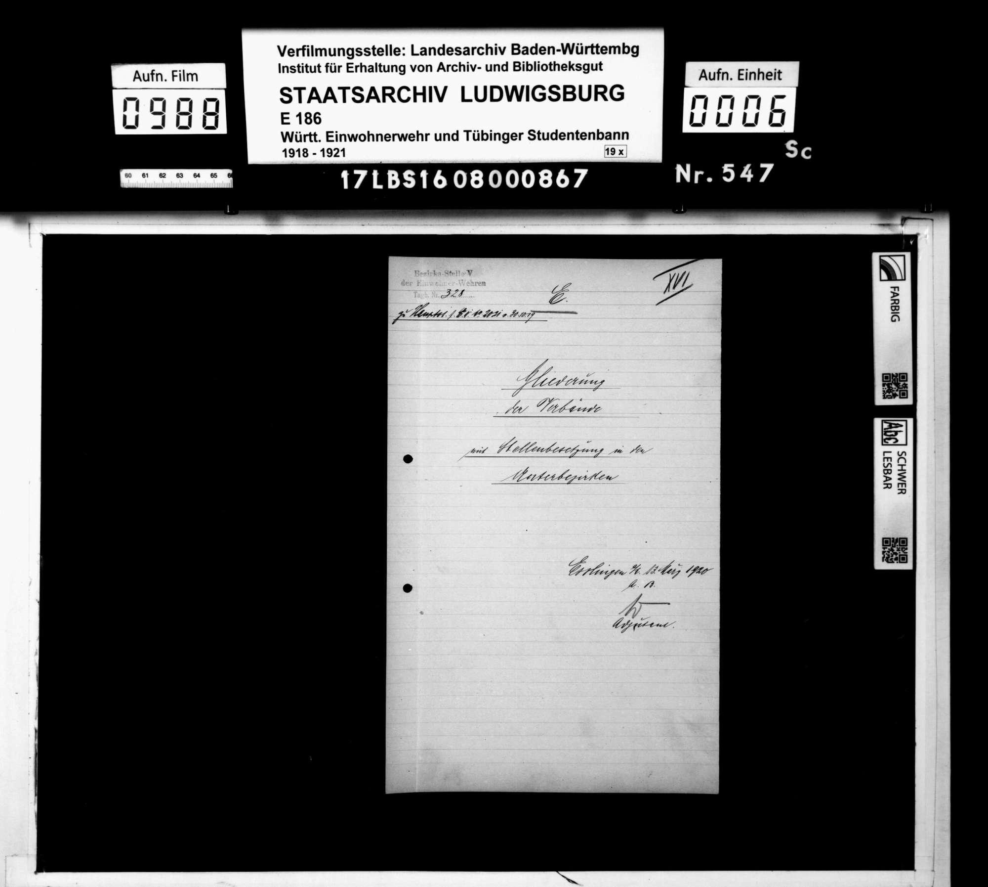 Gliederung und Namenslisten des Bezirks 5 Esslingen und seiner Unterbezirksstellen, Bild 3