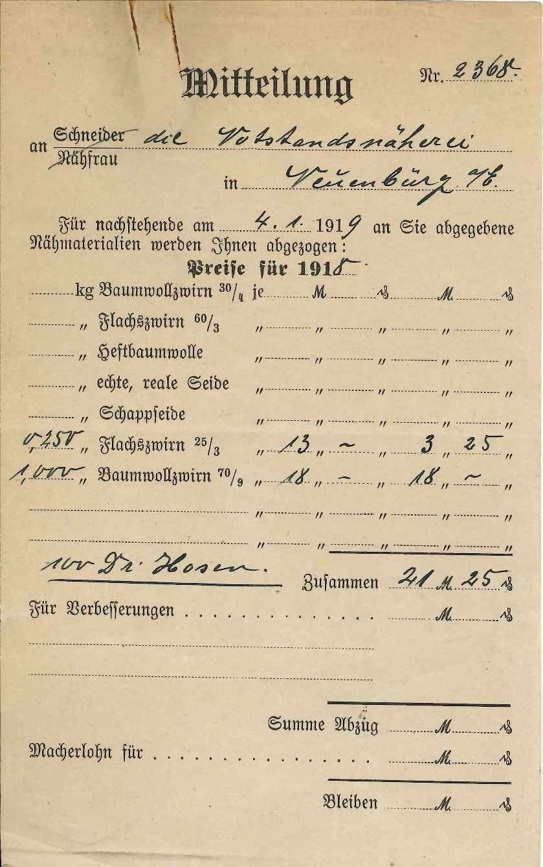 Württ. Landesvermittlungsstelle (Zentralstelle) für Heimarbeit (bei der Zentralleitung), Bild 2