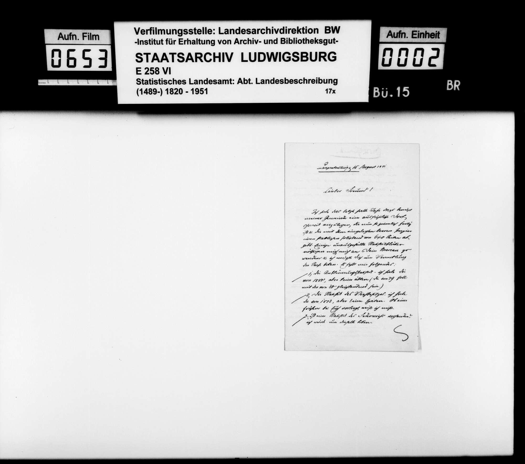 Gründung und Geschäftsführung des Vereins für Vaterlandskunde, Bild 1