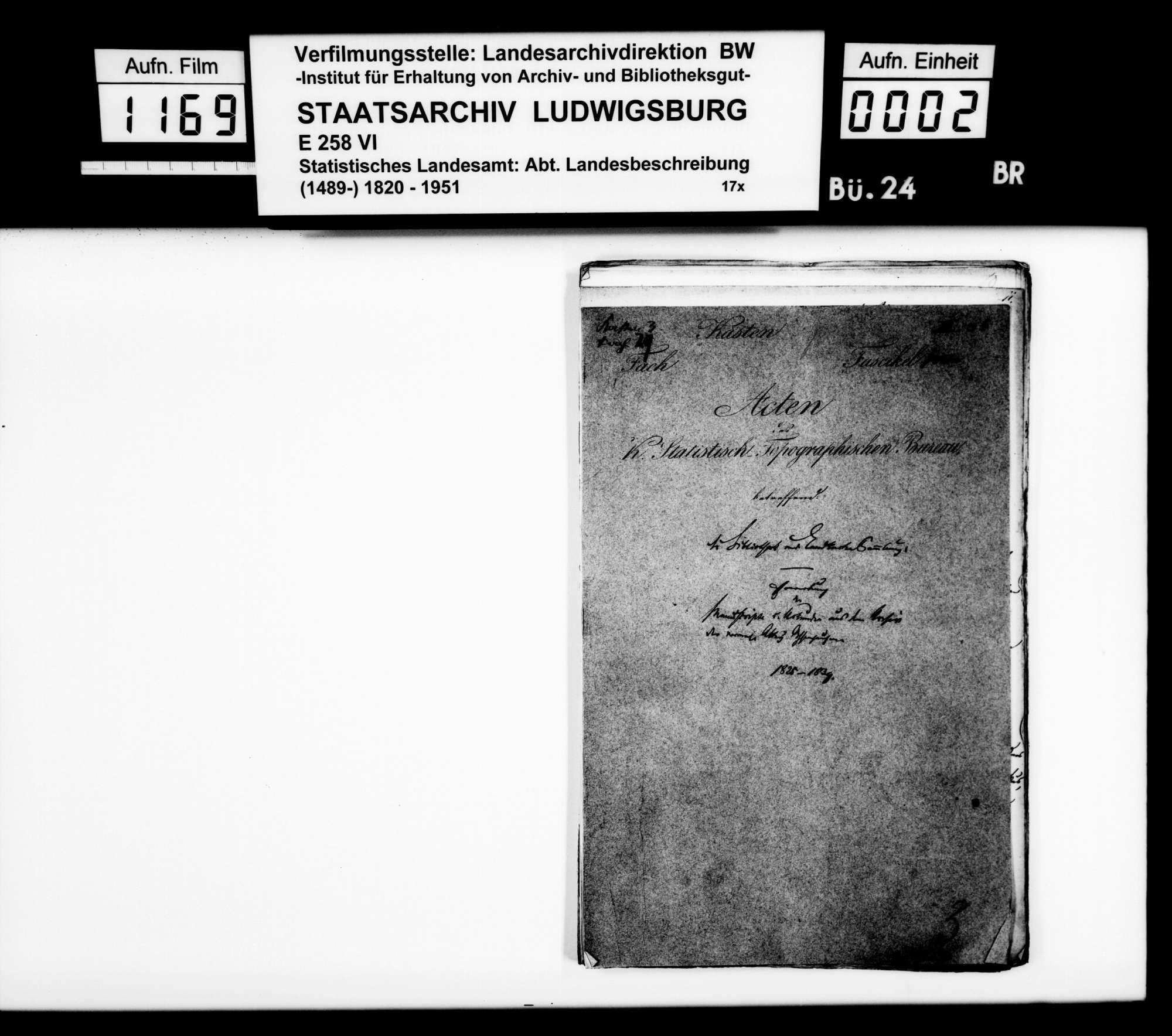Ausleihe von Repertorien und Archivgut der Abtei Ochsenhausen an das STB, Bild 1