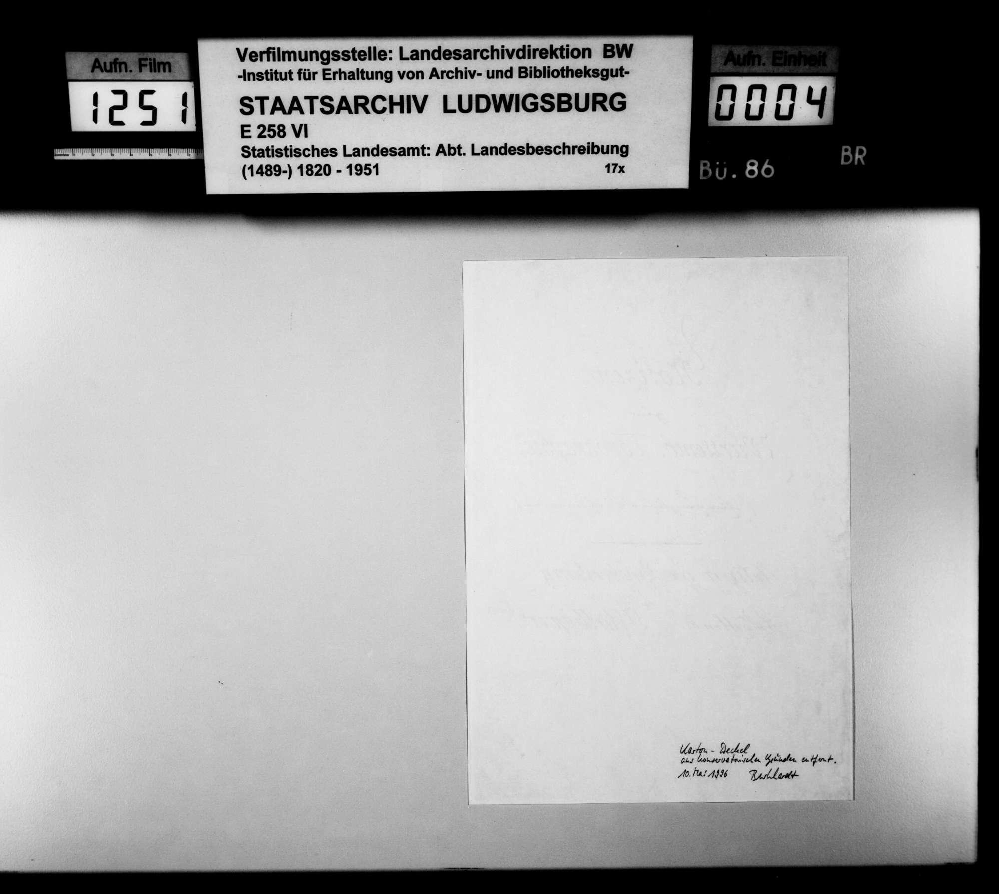 Notizen, Exzerpte, Listen, Konzepte, Zeitungsartikel [von der Hand und aus der Sammlung des Kupferstechers August Seyffer] zu württembergischen Altertümern, Bild 2
