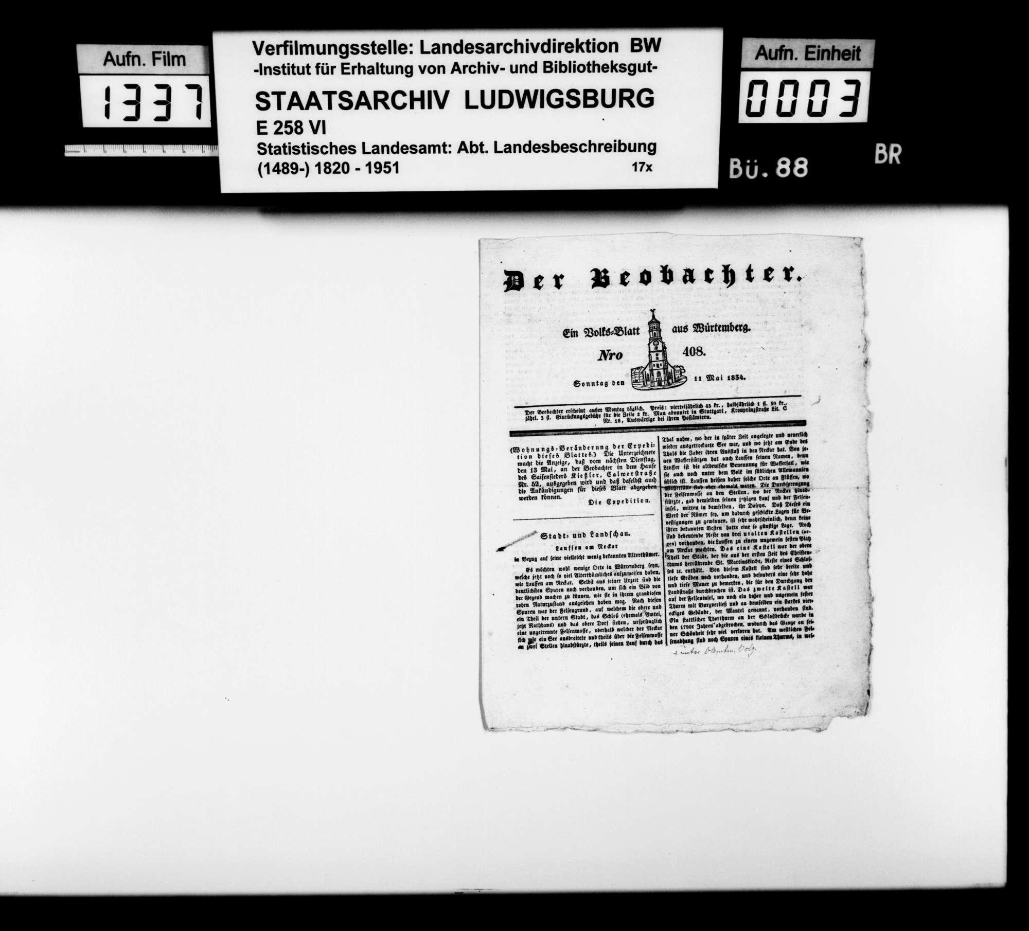 Beiträge und Notizen [des Kupferstechers August Seyffer] zum Verzeichnis und Erhalt württembergischer Altertümer, Bild 2