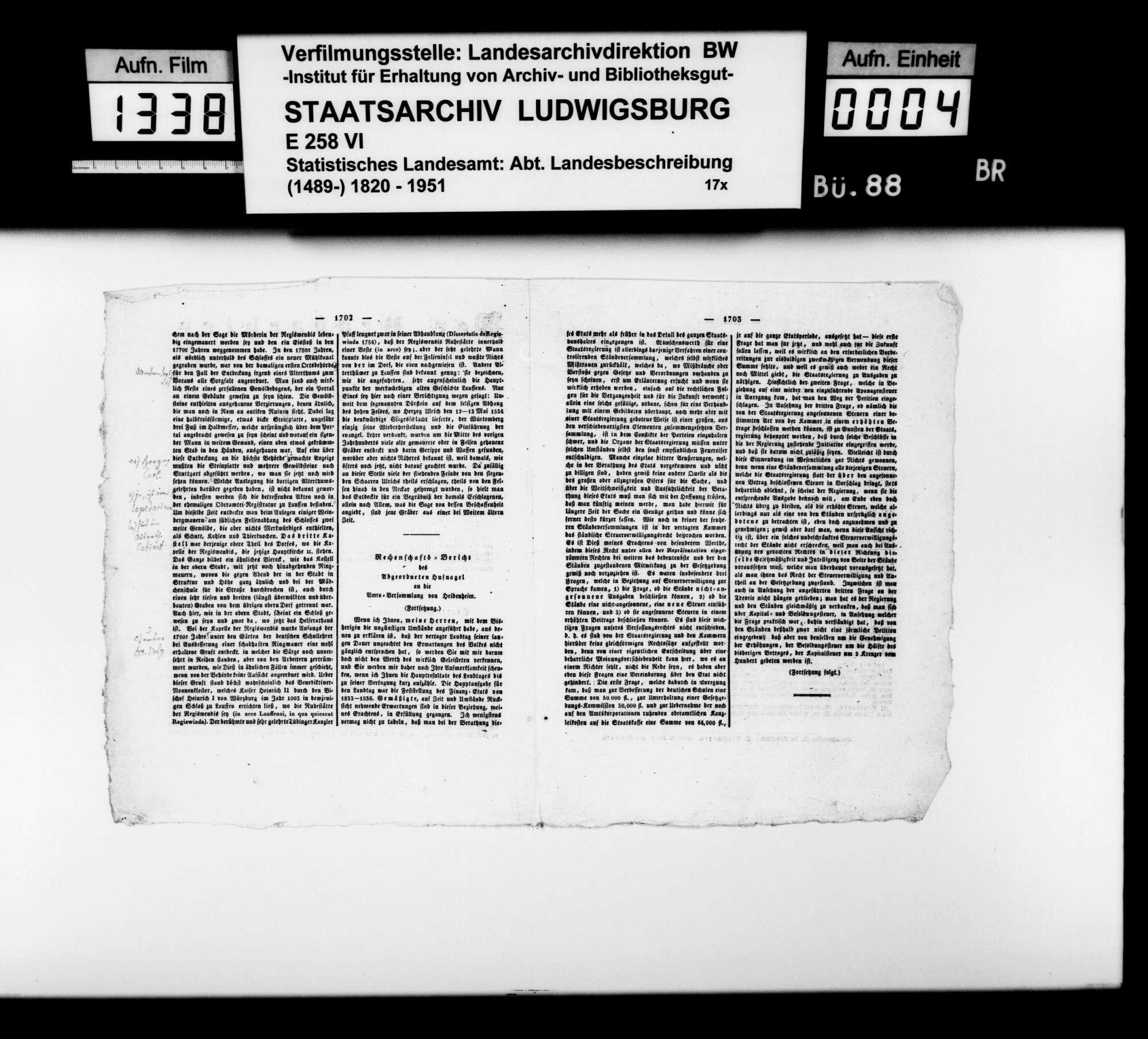 Beiträge und Notizen [des Kupferstechers August Seyffer] zum Verzeichnis und Erhalt württembergischer Altertümer, Bild 3