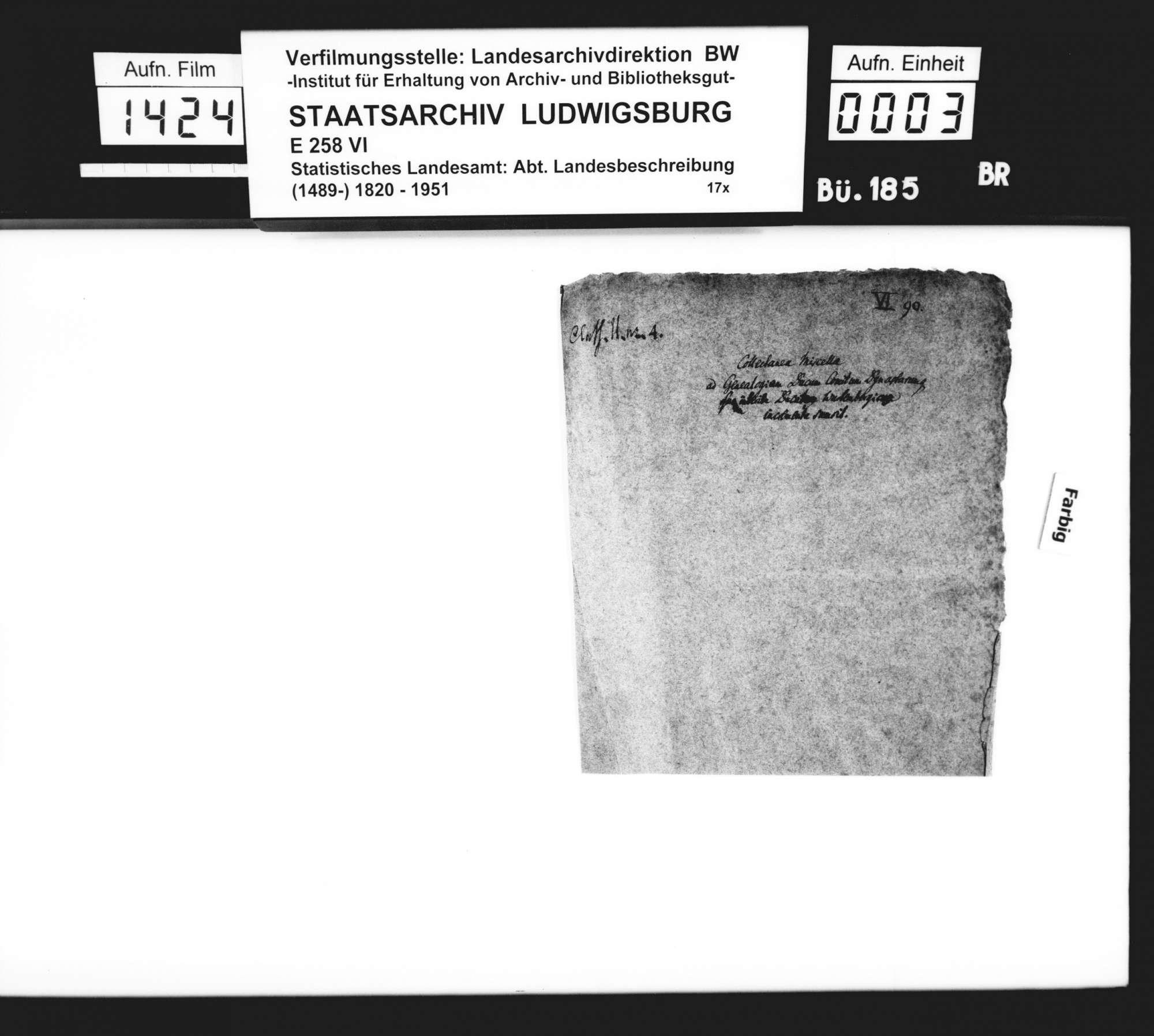 Exzerpte und Manuskripte [des Staatsarchivars Wilhelm Ferdinand Ludwig Scheffer] zur mittelalterlichen Geschichte im deutschen Südwesten: