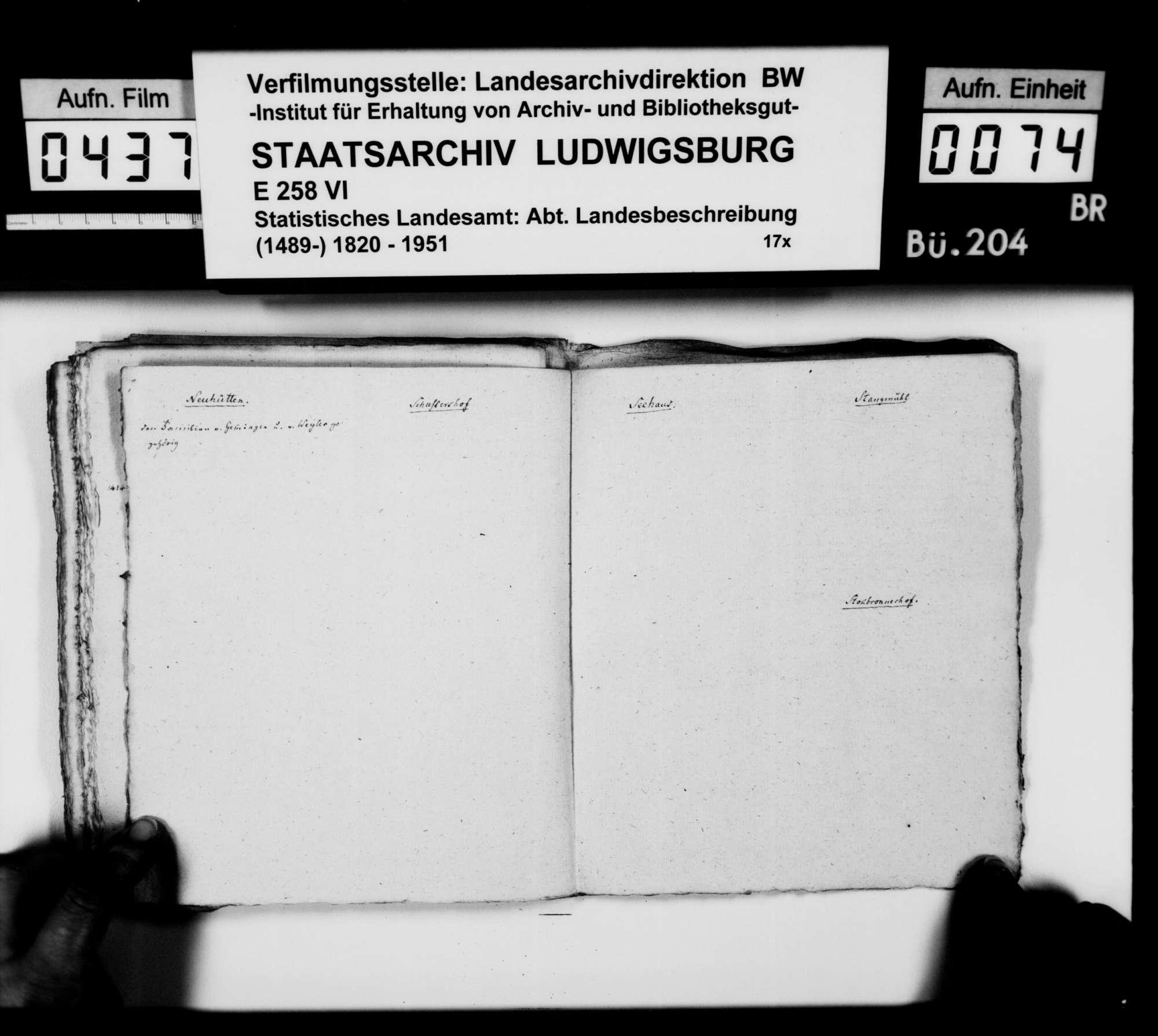 Materialsammlung des Karl von Alberti: Kollektaneen zur Geschichte der freiherrlichen Familien von Adelsheim und von Gemmingen, Bild 2