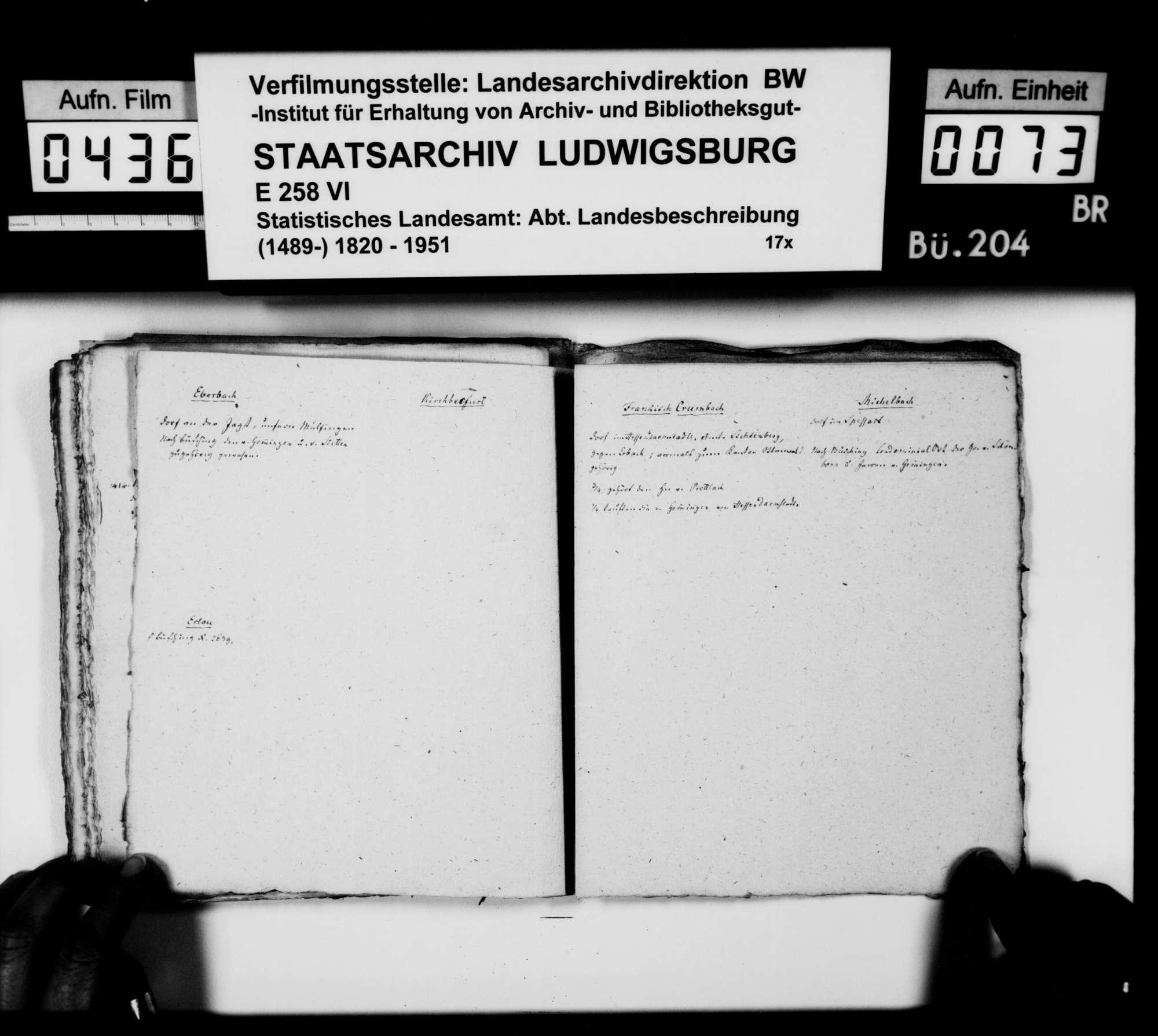 Materialsammlung des Karl von Alberti: Kollektaneen zur Geschichte der freiherrlichen Familien von Adelsheim und von Gemmingen, Bild 3