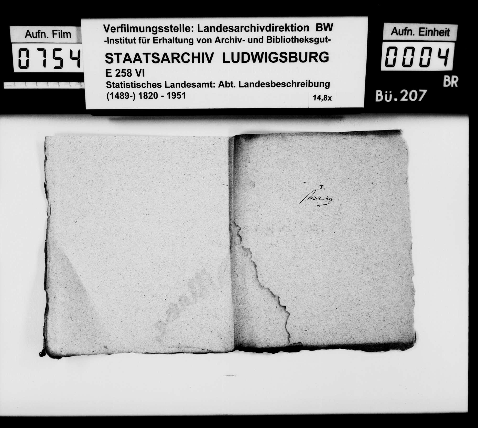 Materialsammlung des Karl von Alberti: Notizen zur Geschichte der Buchdruckereien in Schwaben; I. Württemberg, II. Baden, III. bayerisches Schwaben, Bild 2