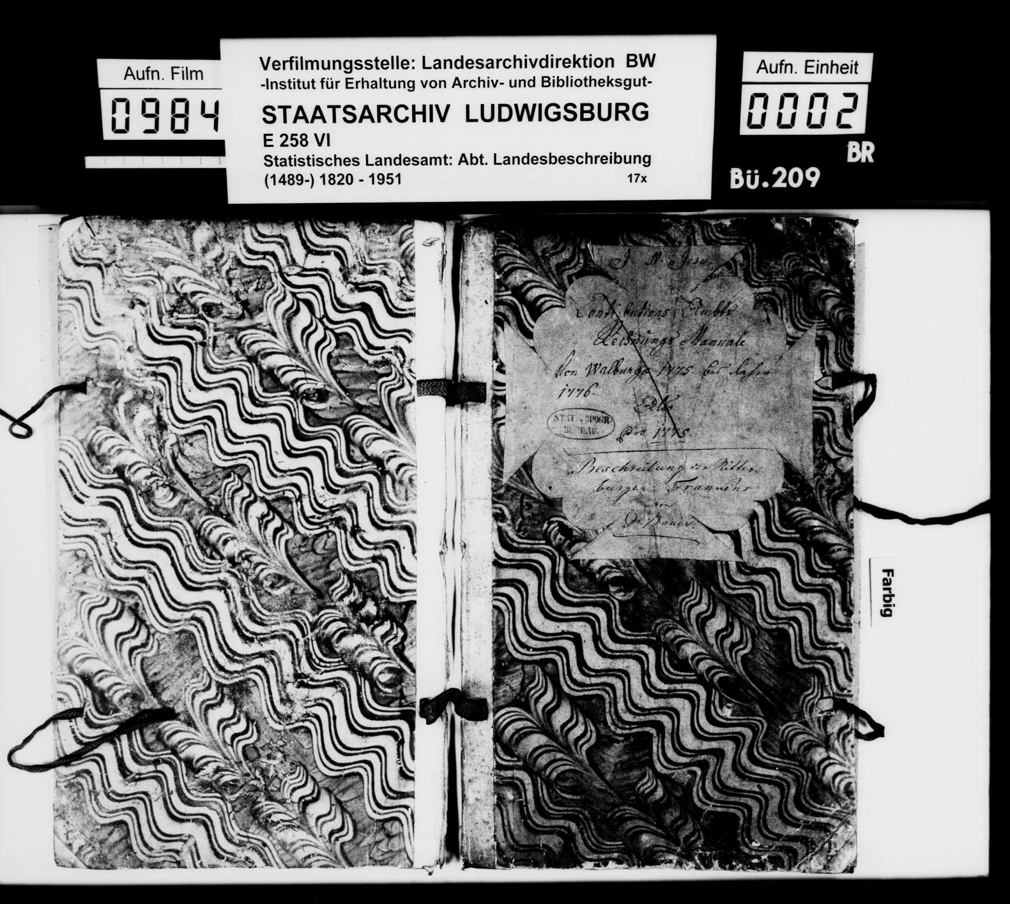 Beschreibung der Ritterburgen in Franken, von [Dekan Hermann] Bauer [in Weinsberg], Bild 1
