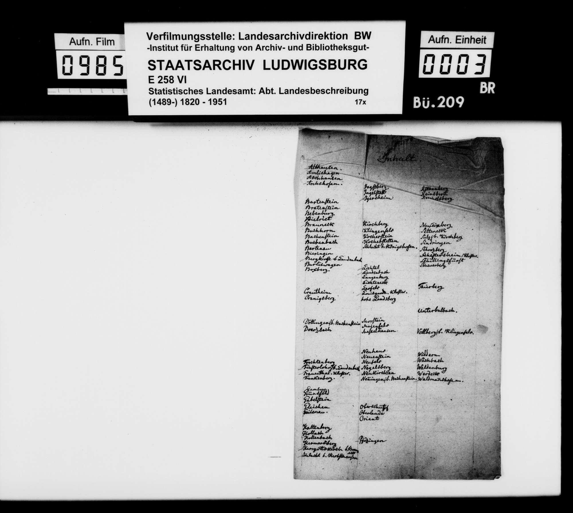 Beschreibung der Ritterburgen in Franken, von [Dekan Hermann] Bauer [in Weinsberg], Bild 2