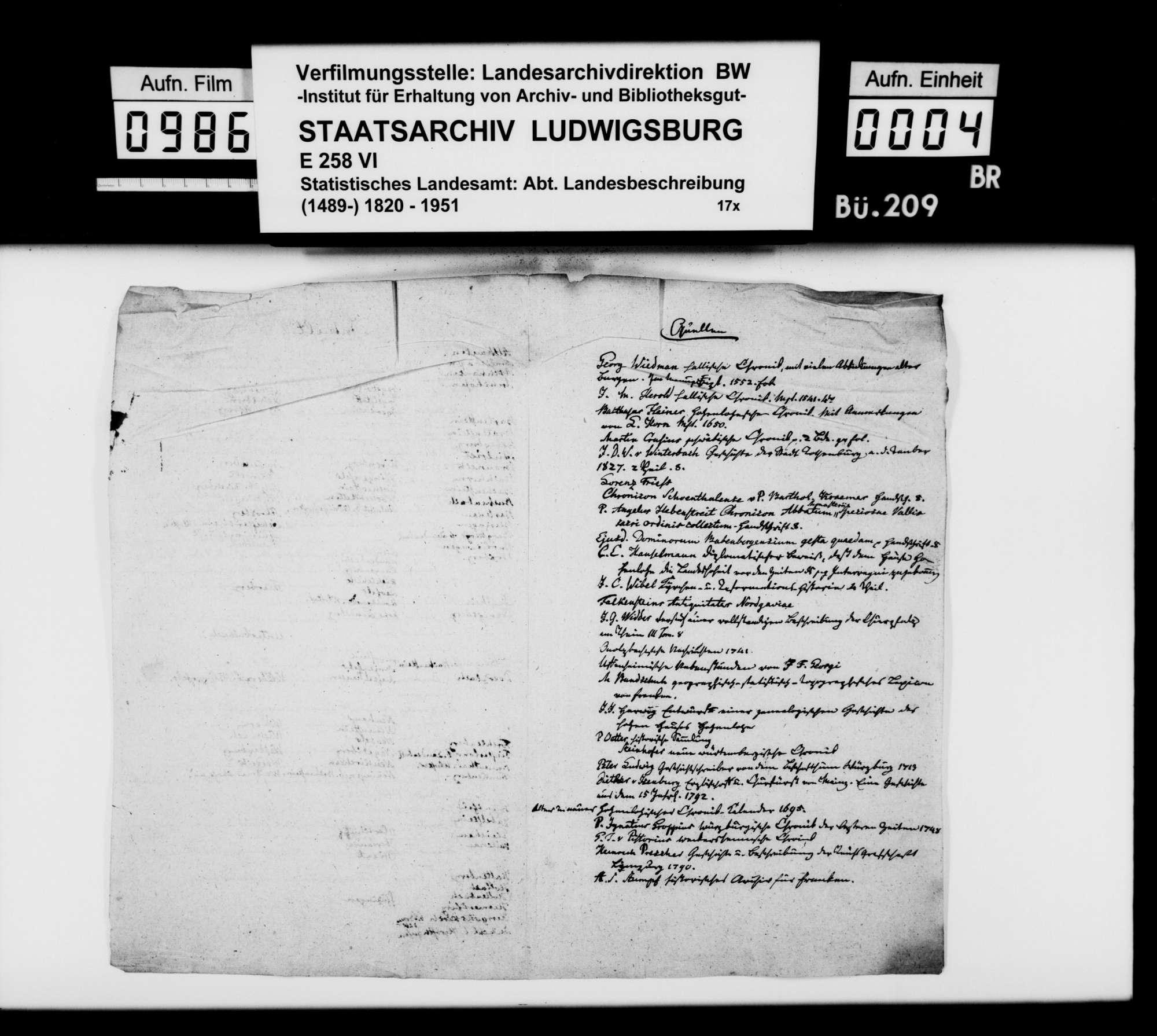 Beschreibung der Ritterburgen in Franken, von [Dekan Hermann] Bauer [in Weinsberg], Bild 3