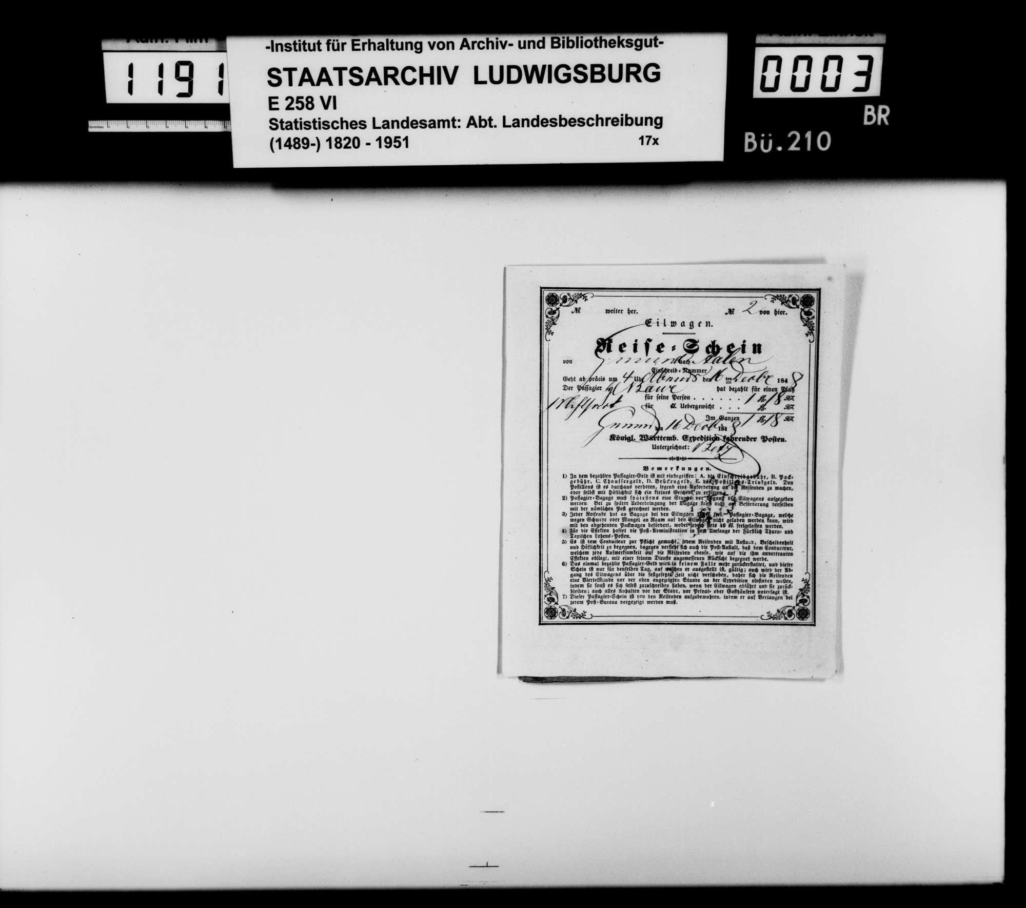 Kollektaneen und Aufsatzkonzepte des Dekans [Hermann] Bauer aus Weinsberg zur Genealogie und Geschichte des Adels im Königreich, vor allem zum Ursprung des Hauses Württemberg, Bild 1