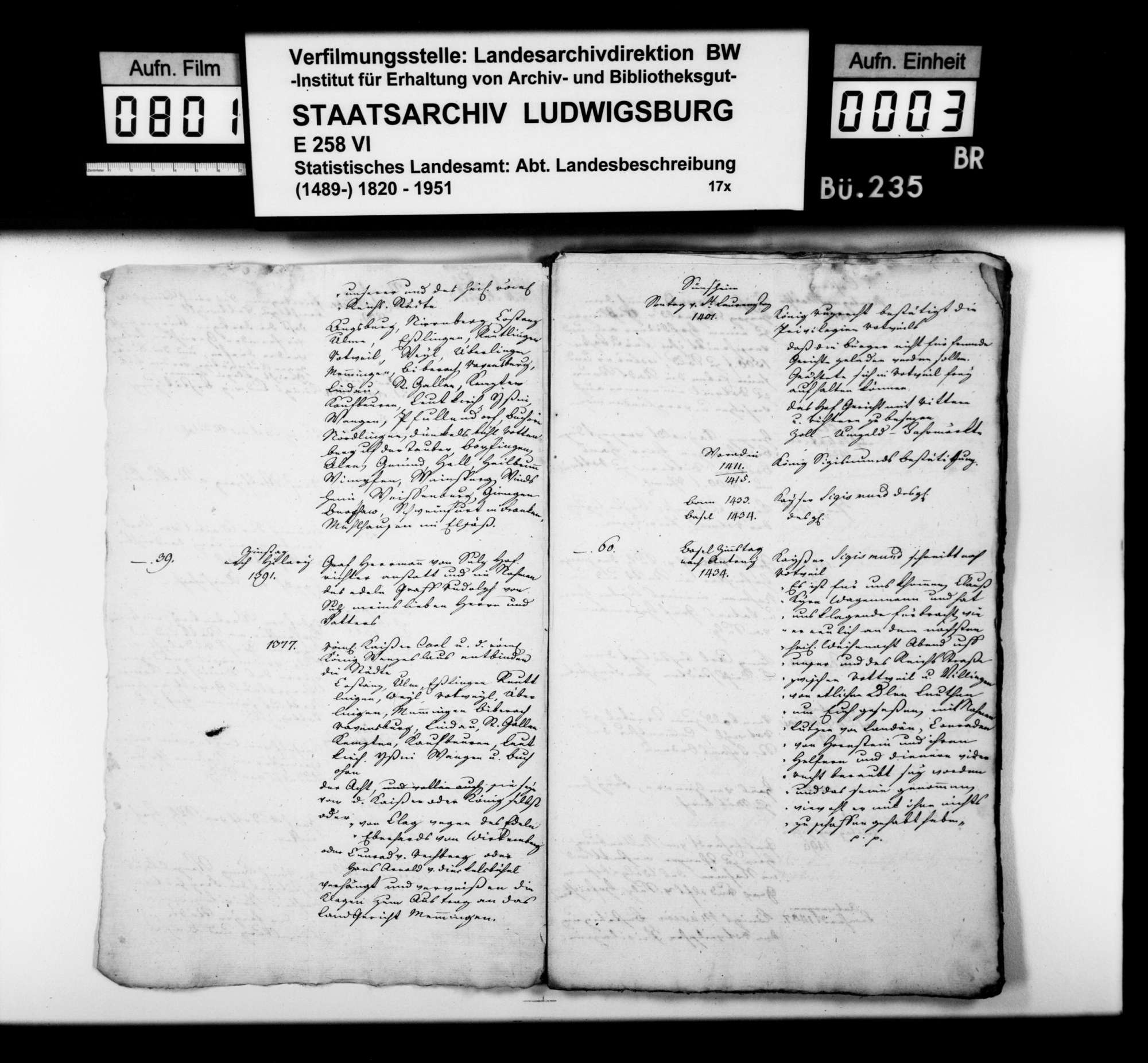 Chronologische Notizen [des Landvogteisteuerrats Heinrich Zeller] zu Namen und Ereignissen im Gebiet des späteren Schwarzwaldkreises von 1299 bis ins 18. Jahrhundert, Bild 2
