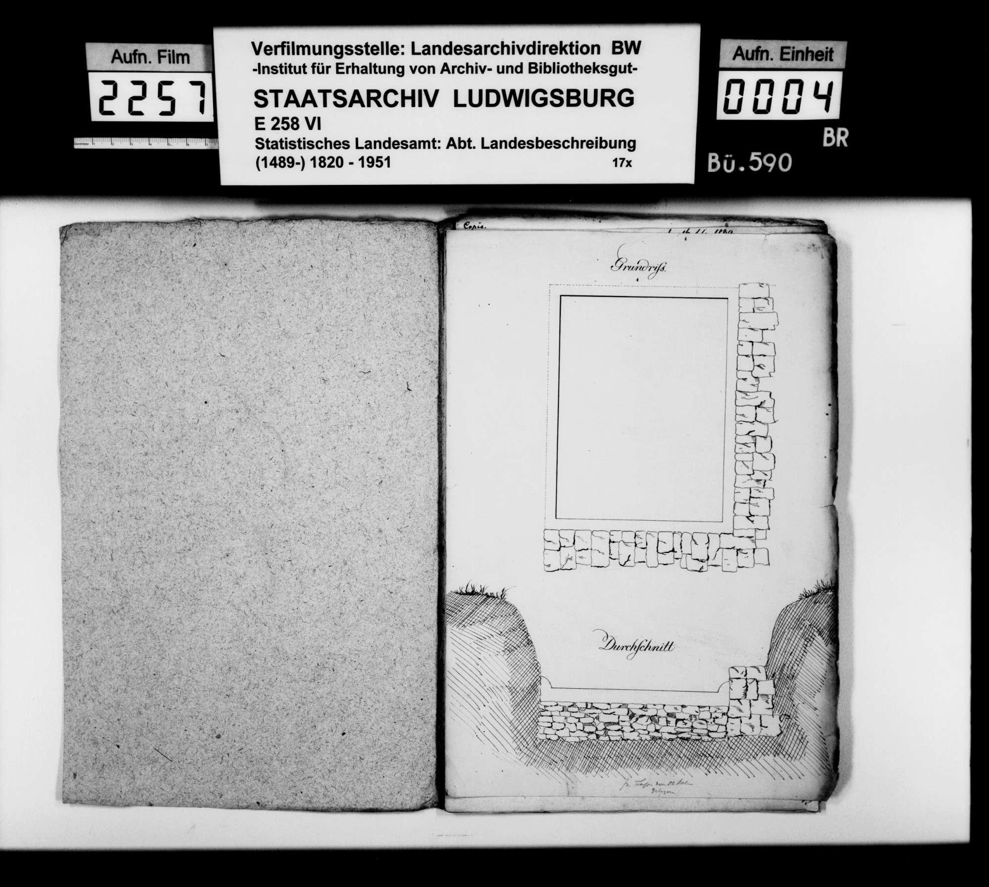 Römische Überreste und andere Altertümer in Aalen und Unterkochen, auch im Oberamt Gmünd, Bild 2