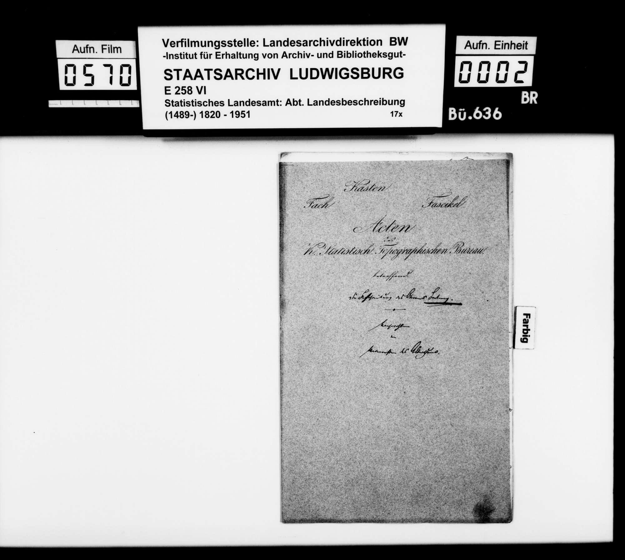 Bericht des Topographen [Karl Eduard] Paulus über römische und mittelalterliche Altertümer im Oberamt, Bild 1