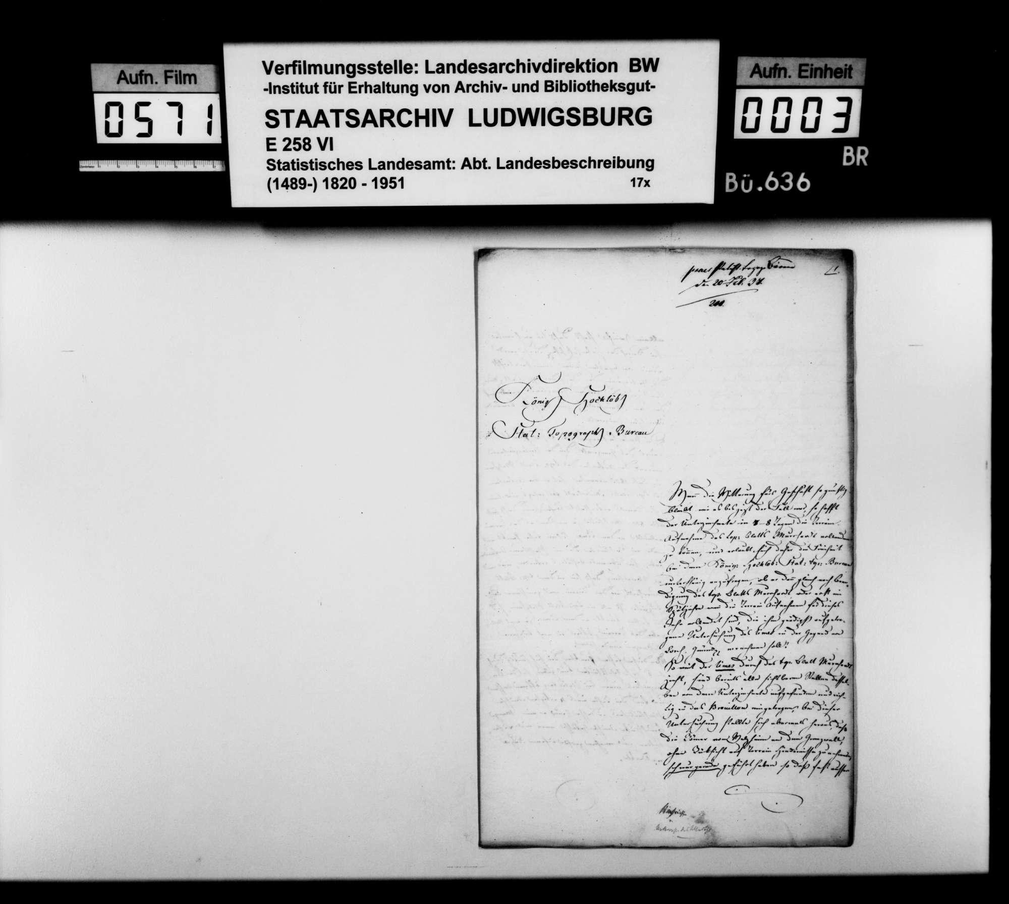 Bericht des Topographen [Karl Eduard] Paulus über römische und mittelalterliche Altertümer im Oberamt, Bild 2