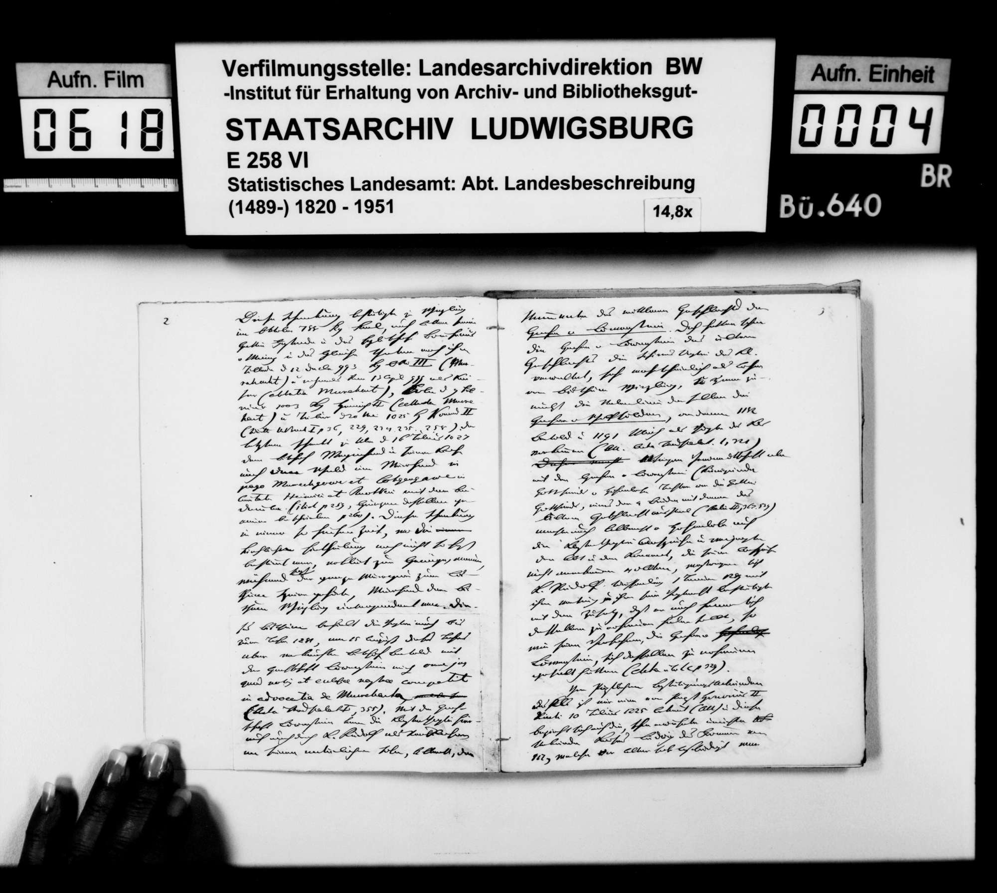 Beiträge des [Esslinger Konrektors] Karl Pfaff zur historiographischen Beschreibung des Oberamts, Bild 3