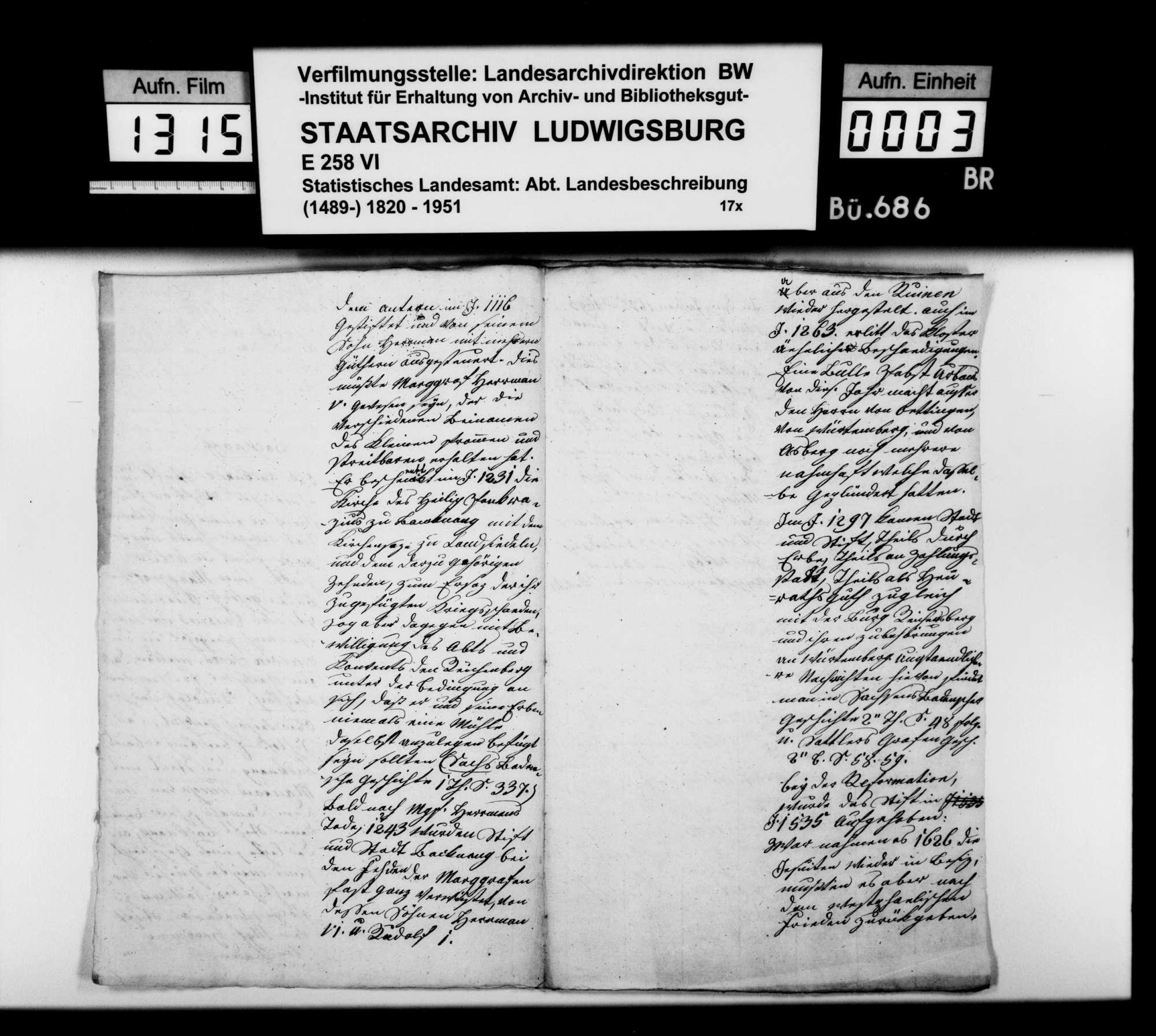 Beschreibung und Geschichte von Backnang und Ebersberg, vermutlich von Regierungsrat Büttner, Bild 2