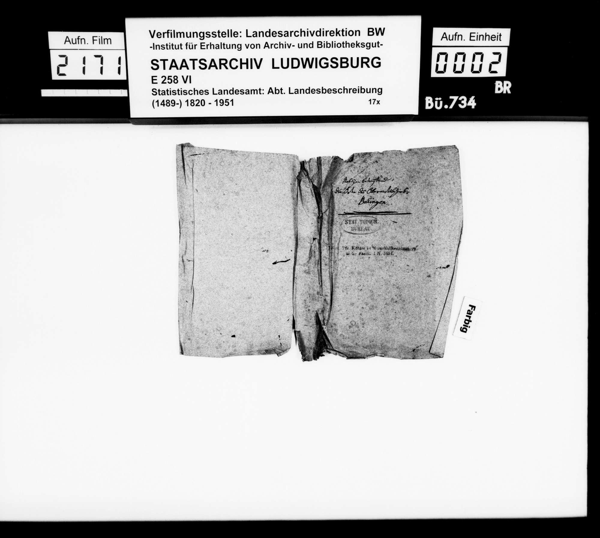 Amts- und Intelligenzblatt für den Oberamtsbezirk Balingen, Nr. 19, 21, 23 und 24 vom 5.-22. März 1864 sowie abschriftlich Nr. 25: Der große Stadtbrand in Balingen 1809, Bild 1