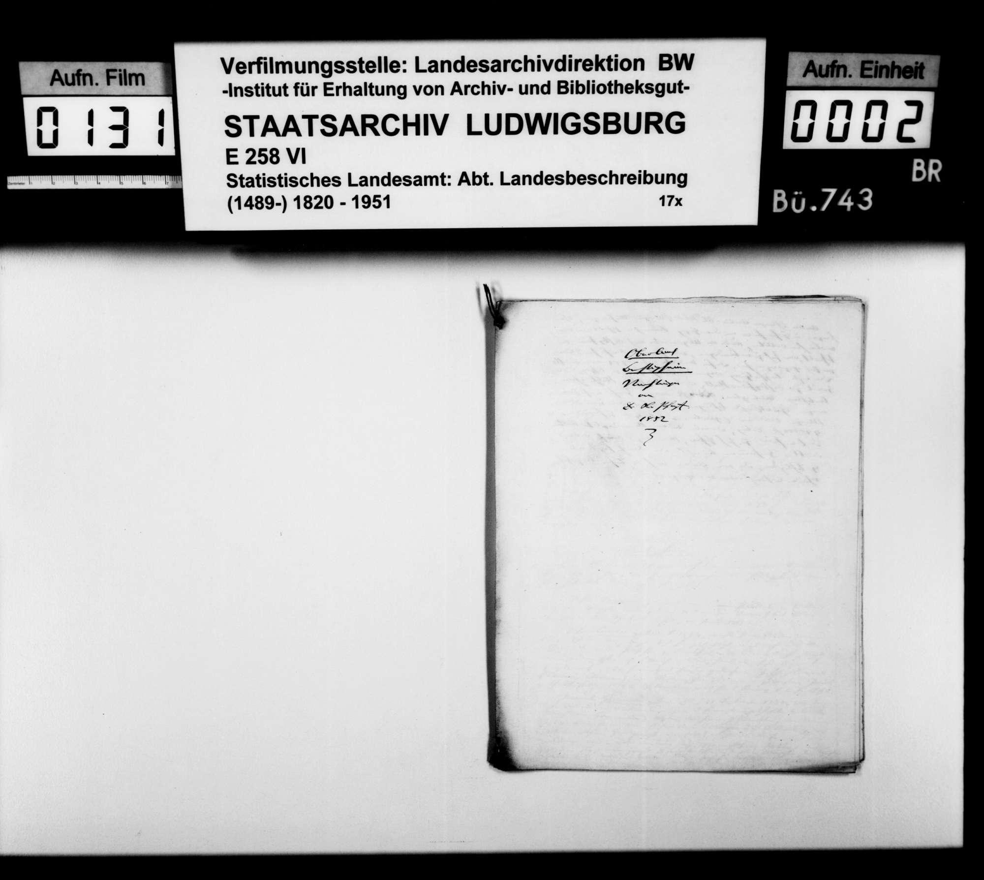 Beiträge des [Esslinger Konrektors] Karl Pfaff zur geschichtlichen Topographie des Oberamts, Bild 1