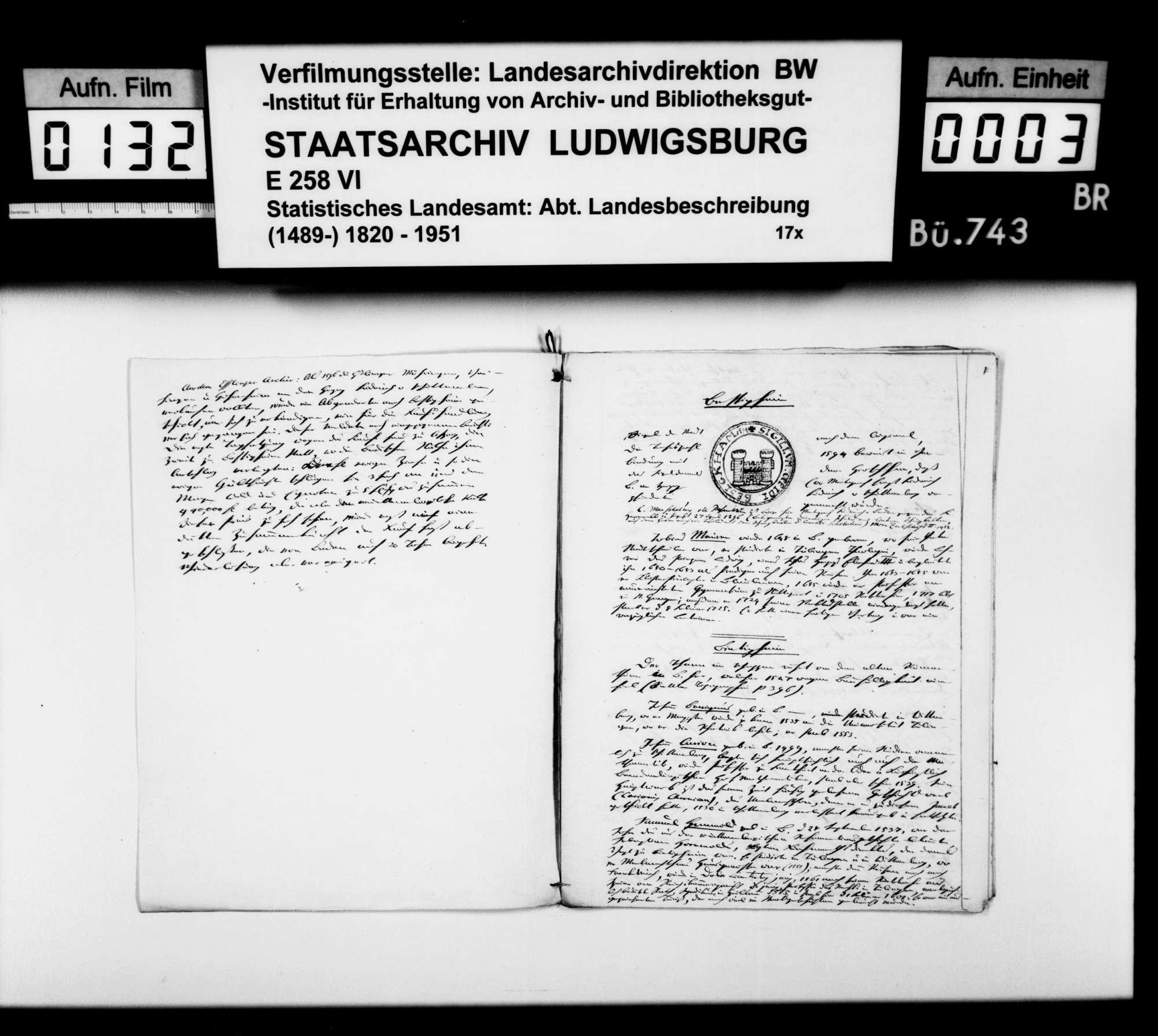 Beiträge des [Esslinger Konrektors] Karl Pfaff zur geschichtlichen Topographie des Oberamts, Bild 2