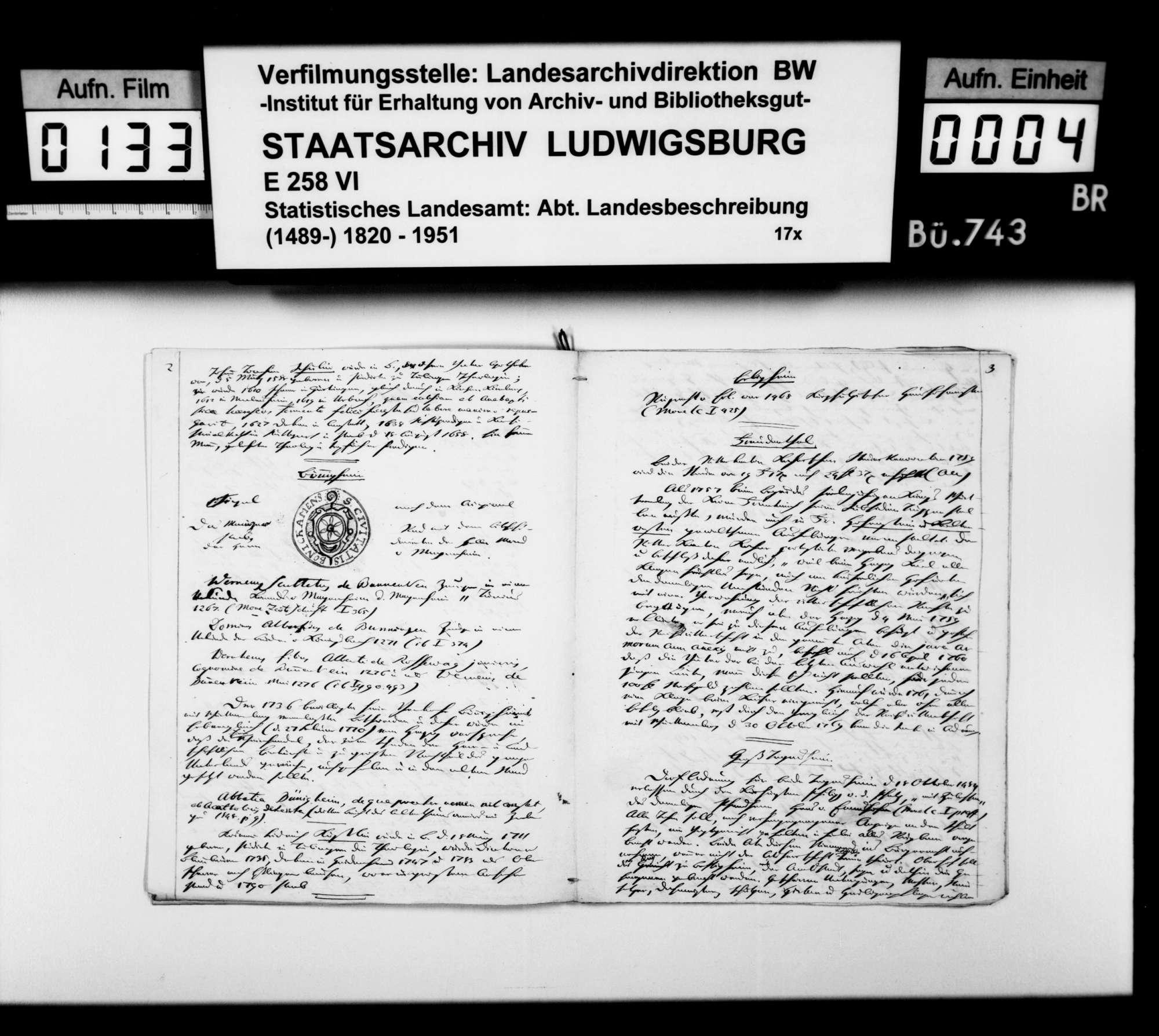 Beiträge des [Esslinger Konrektors] Karl Pfaff zur geschichtlichen Topographie des Oberamts, Bild 3