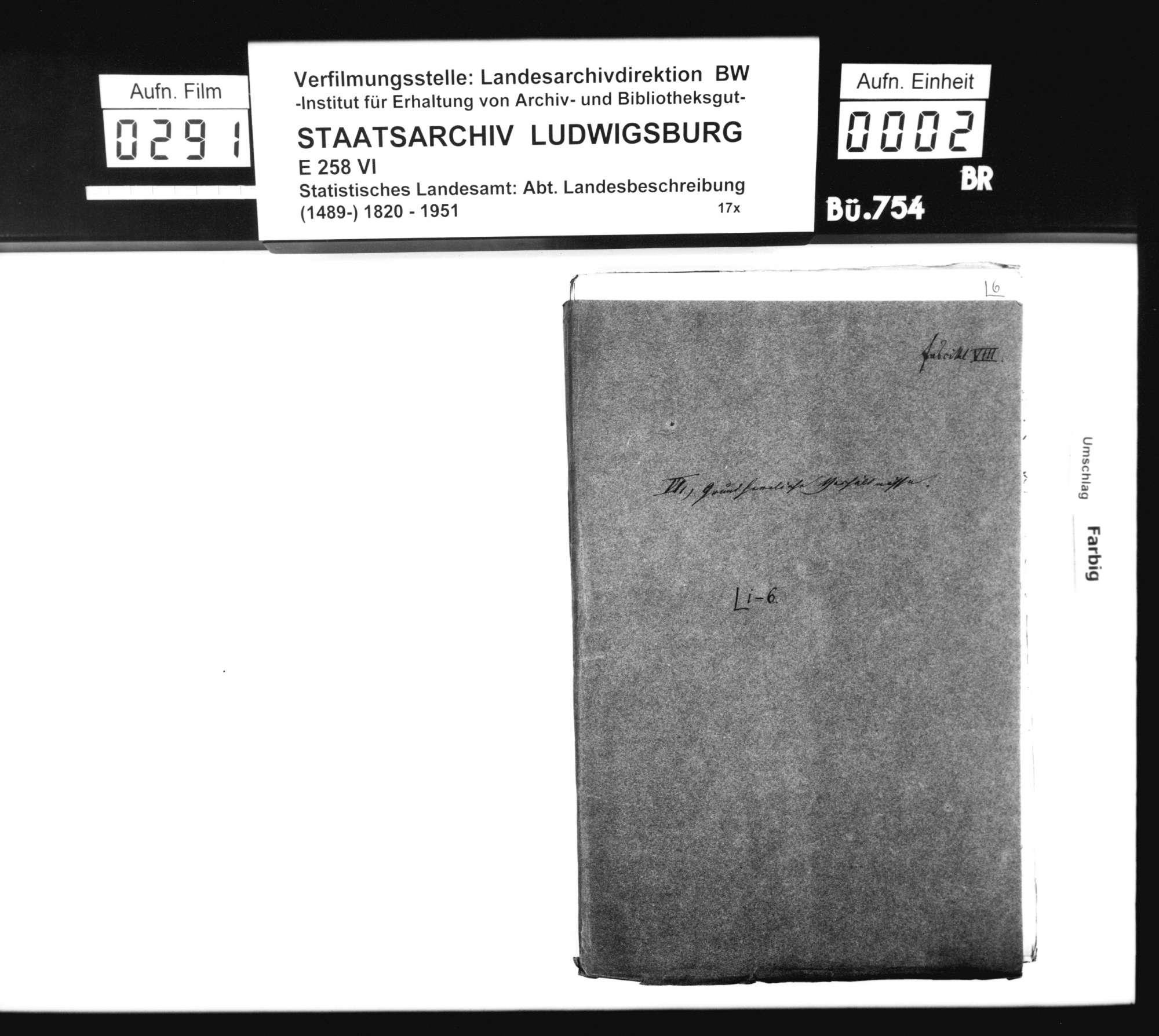 Zehnte und andere Gefälle sowie deren Ablösung im Oberamt, insbesondere in Lauffen a.N., Bild 1
