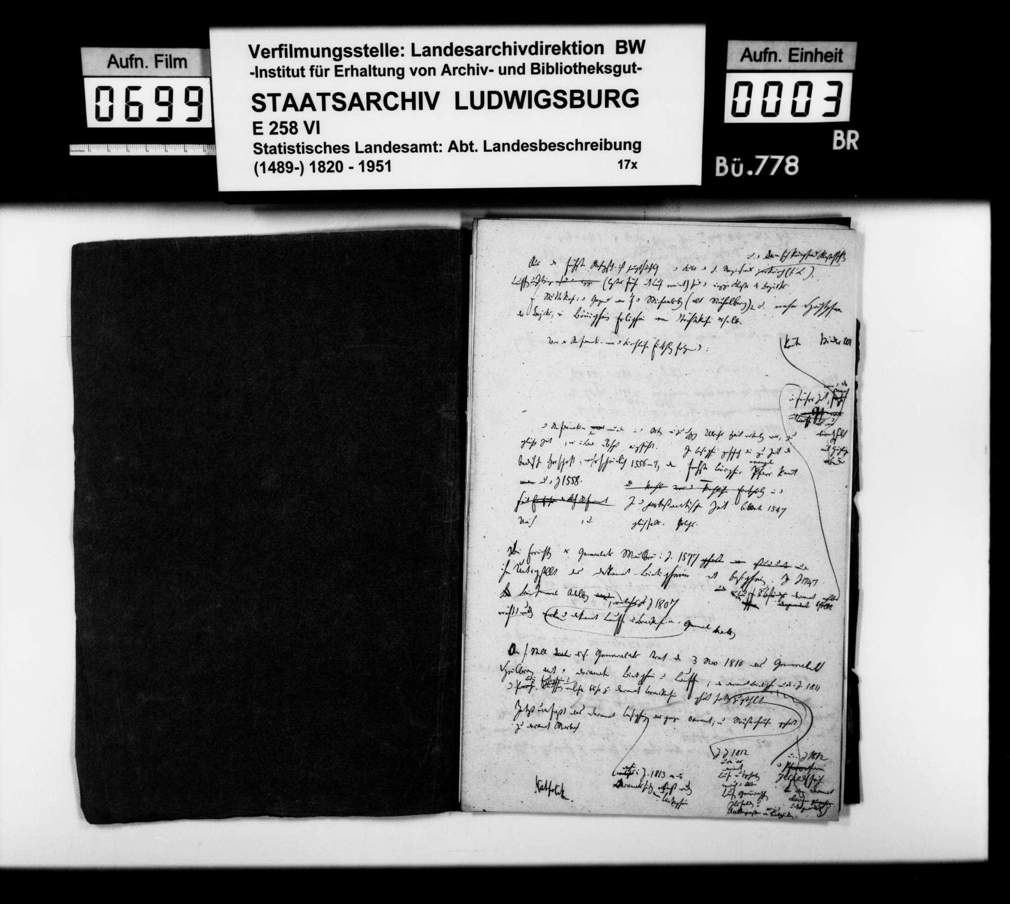 Notizen [v.a. des Oberstudienrats Christoph Friedrich Stälin] zur Geschichte im Oberamtsbezirk, Bild 2