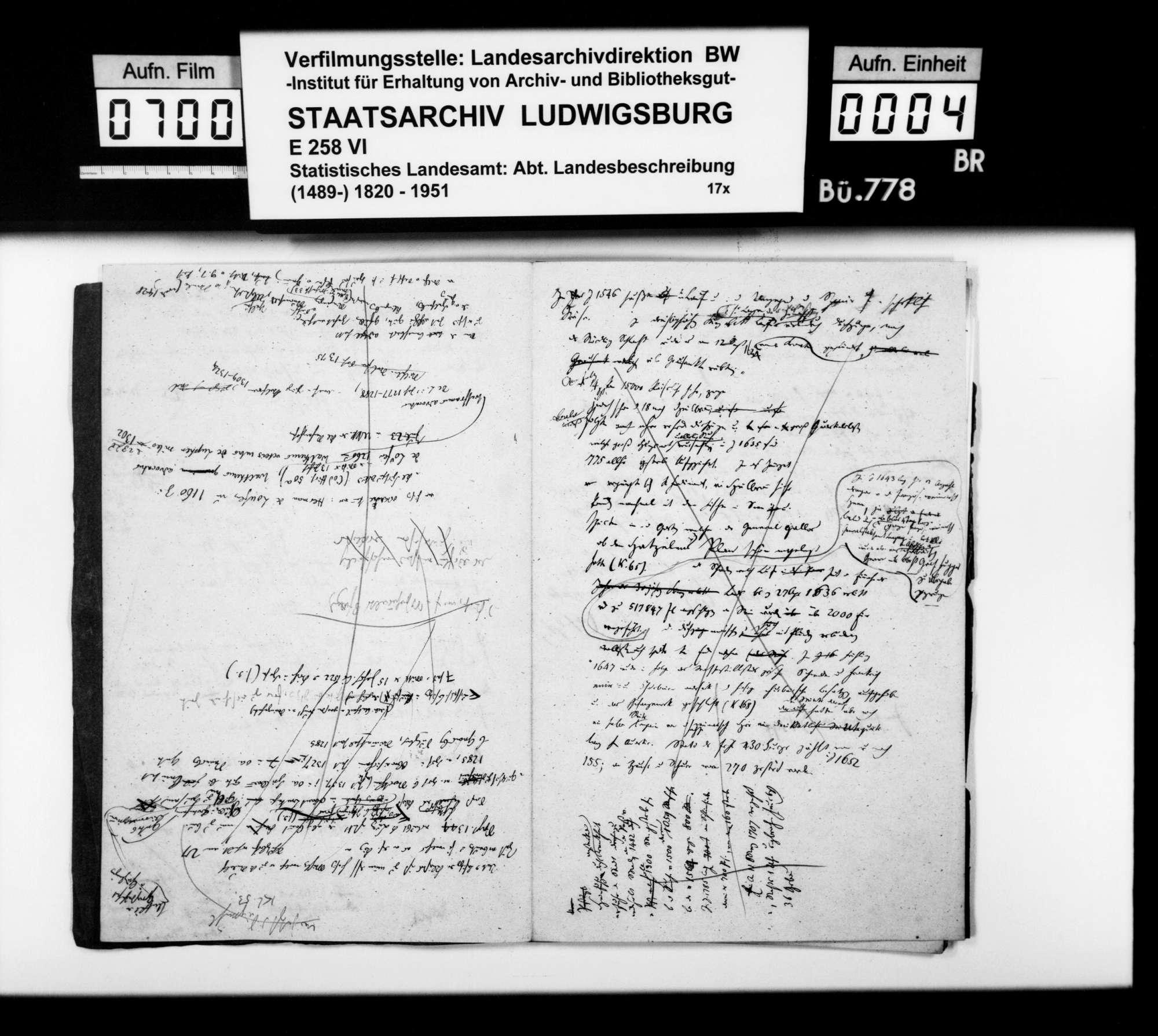 Notizen [v.a. des Oberstudienrats Christoph Friedrich Stälin] zur Geschichte im Oberamtsbezirk, Bild 3