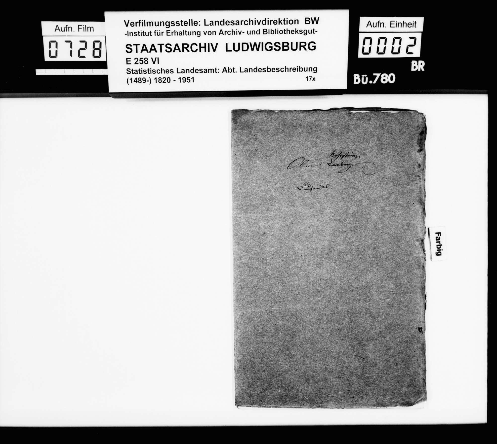 Textmanuskript [des Finanzassessors Karl Eduard Paulus] zu Teilen der OAB, Bild 1