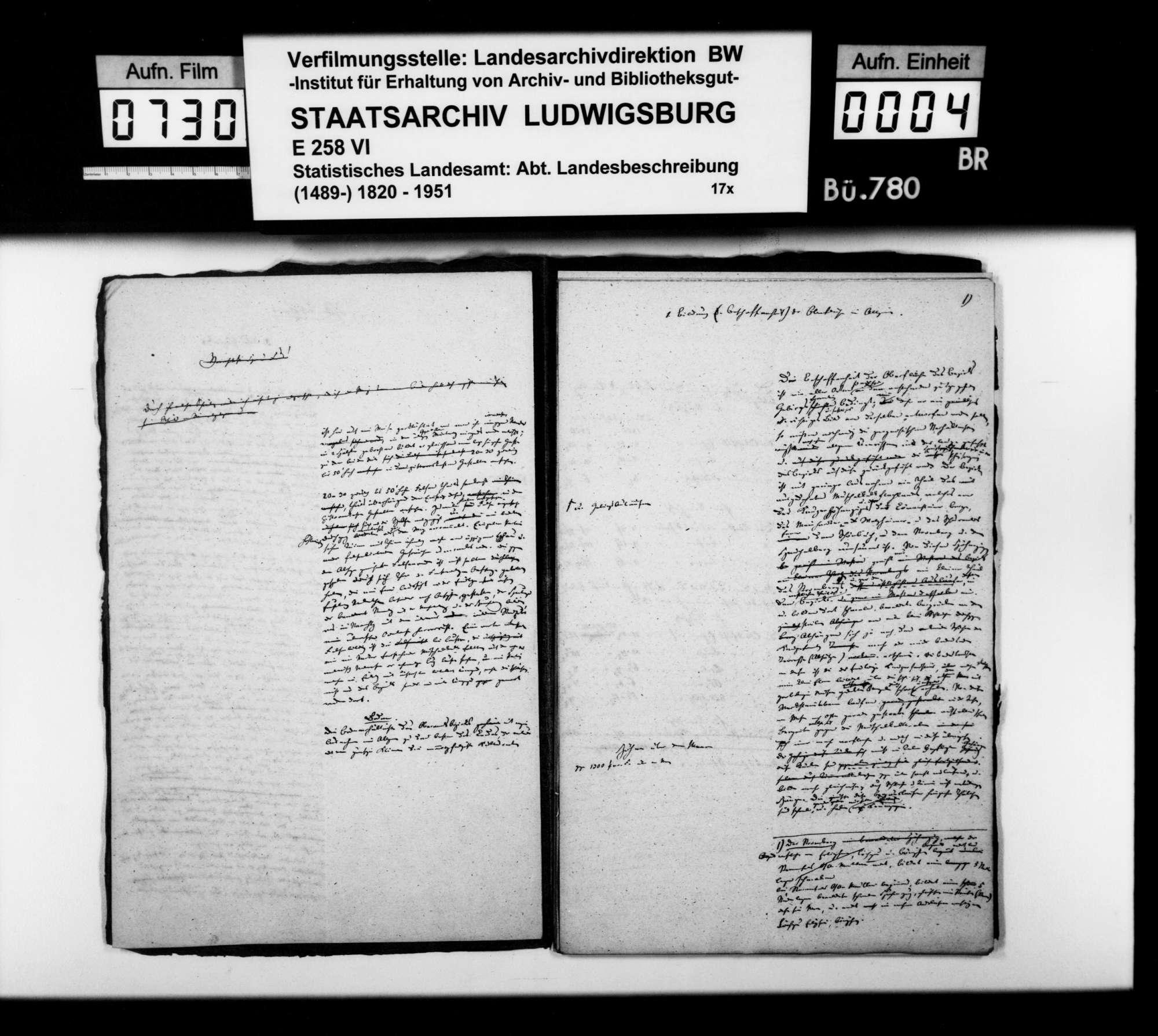 Textmanuskript [des Finanzassessors Karl Eduard Paulus] zu Teilen der OAB, Bild 3
