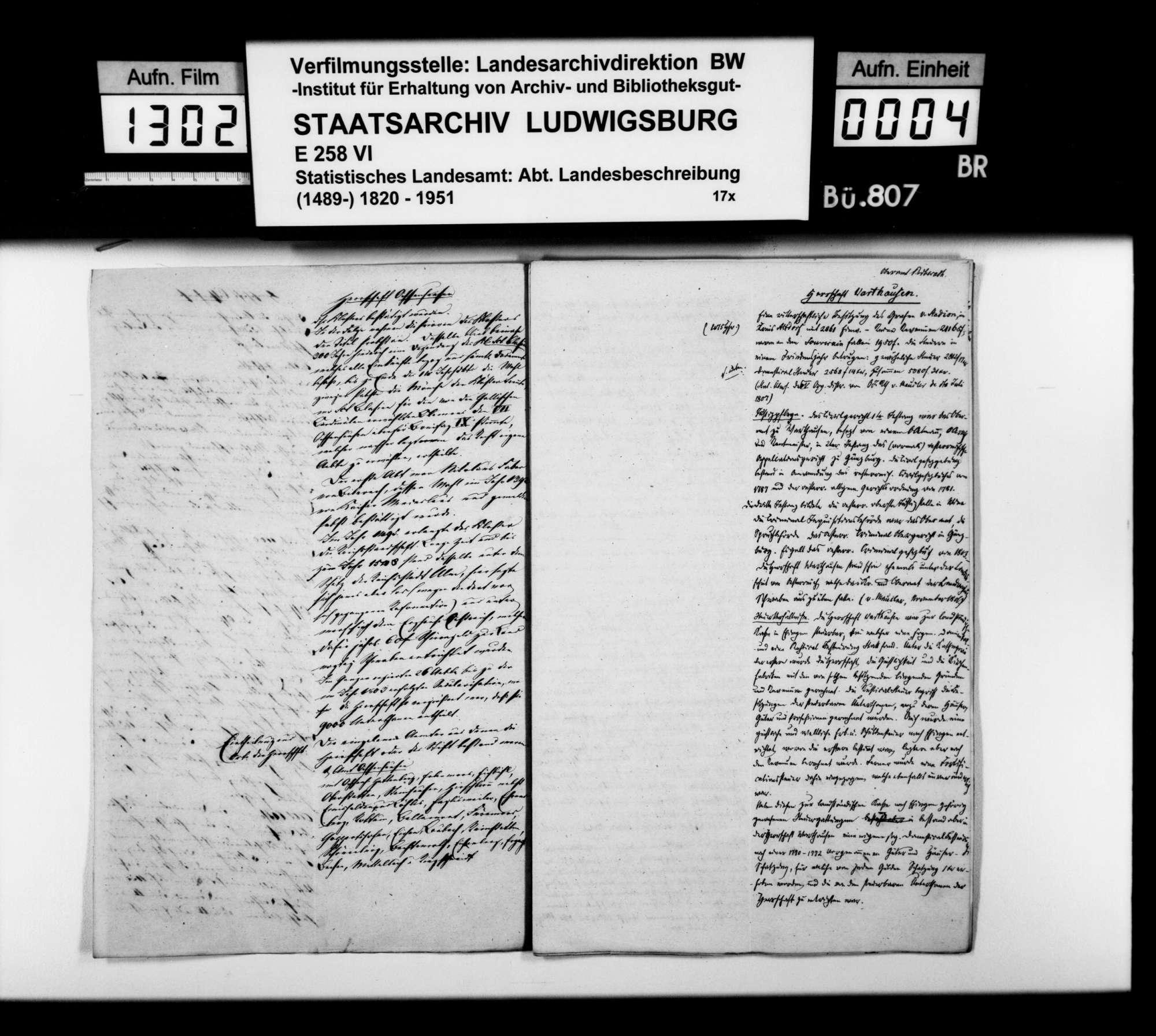 Notizen [des STBs] aus den Organisationsakten von 1806 zu den territorialen württembergischen Erwerbungen im Oberamt, Bild 3