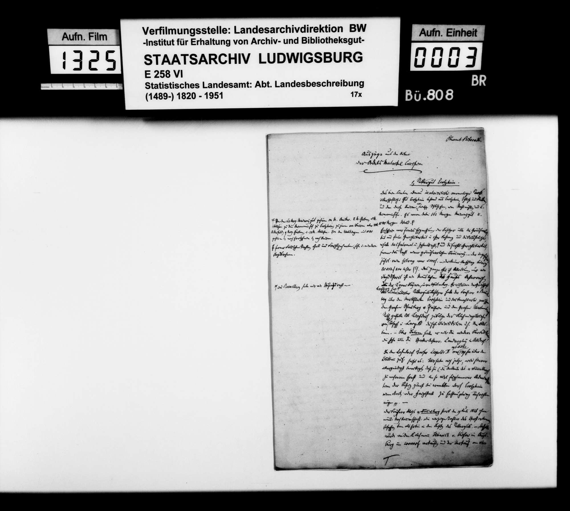 Auszüge aus den Akten der Adelsmatrikelkommission, betreffend die Rittergüter Erolzheim, Warthausen, Röhrwangen, Hürbel, Oberdettingen, Unterdettingen, sowie die Standesherrschaften Gutenzell und Heggbach, Bild 2