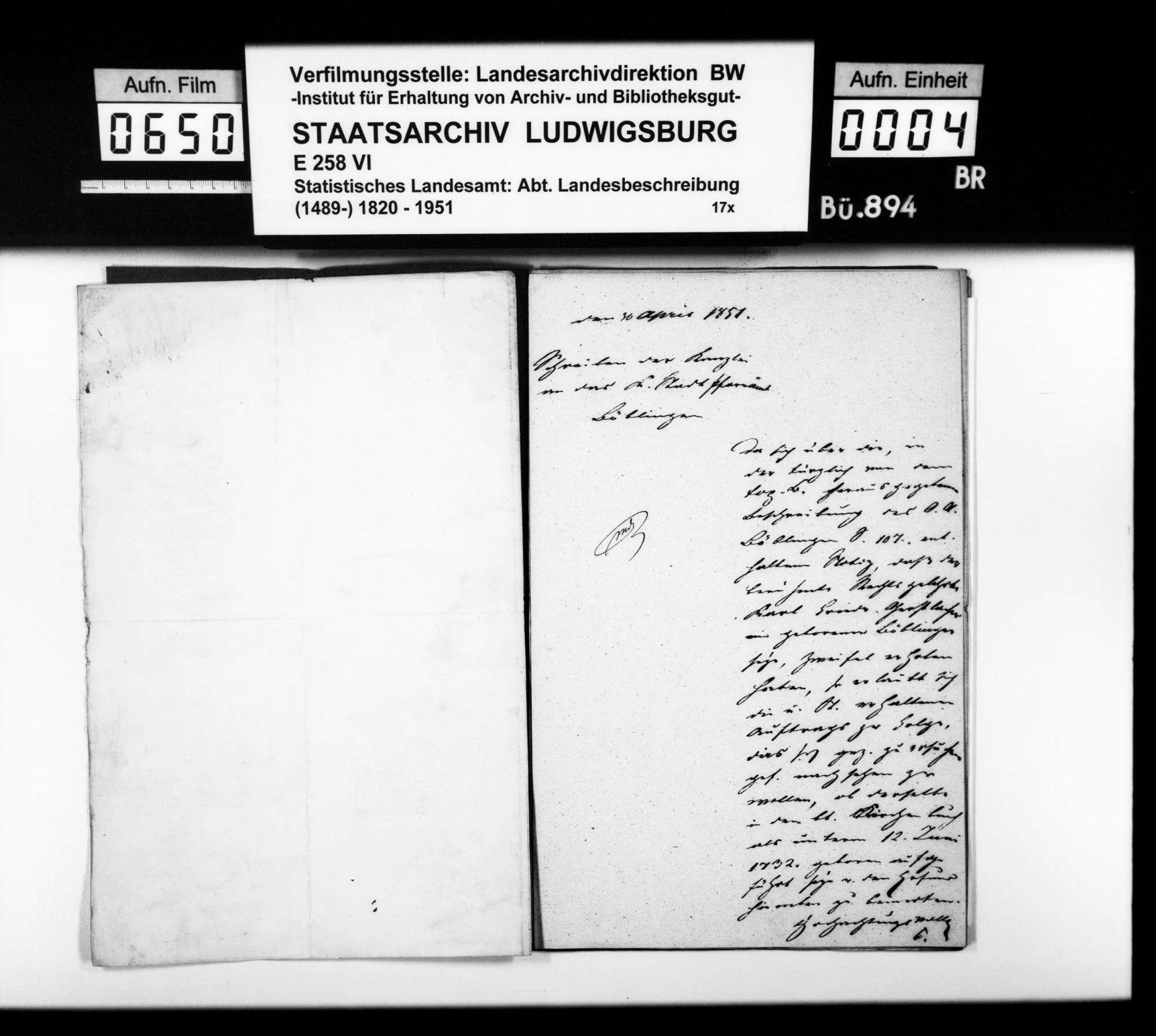 Auszüge aus Kirchenbüchern zur Ermittlung bedeutender Persönlichkeiten aus Böblingen sowie zur Bevölkerungsstatistik von Sindelfingen, Bild 3