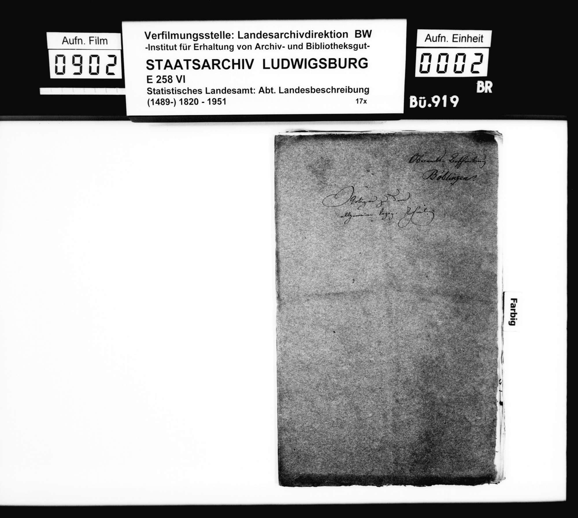 Anstände und Nachfragen sowie Notizen [v.a. des Topographen Paulus und des Oberstudienrats Stälin] zum Manuskript der OAB, Bild 1