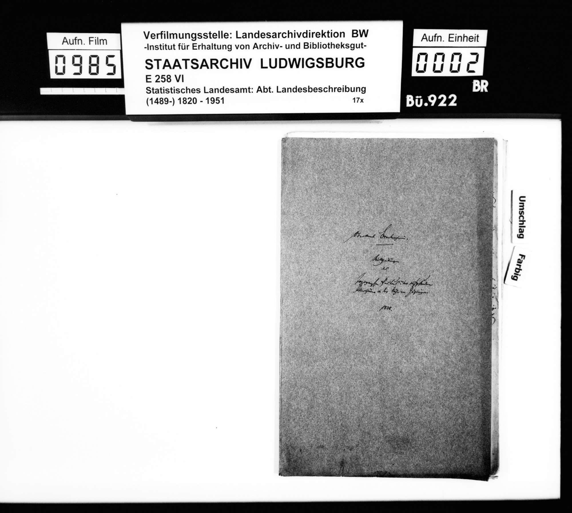 Mitteilungen des Topographen [Karl Eduard] Paulus über entdeckte Altertümer im Bezirk, Bild 1