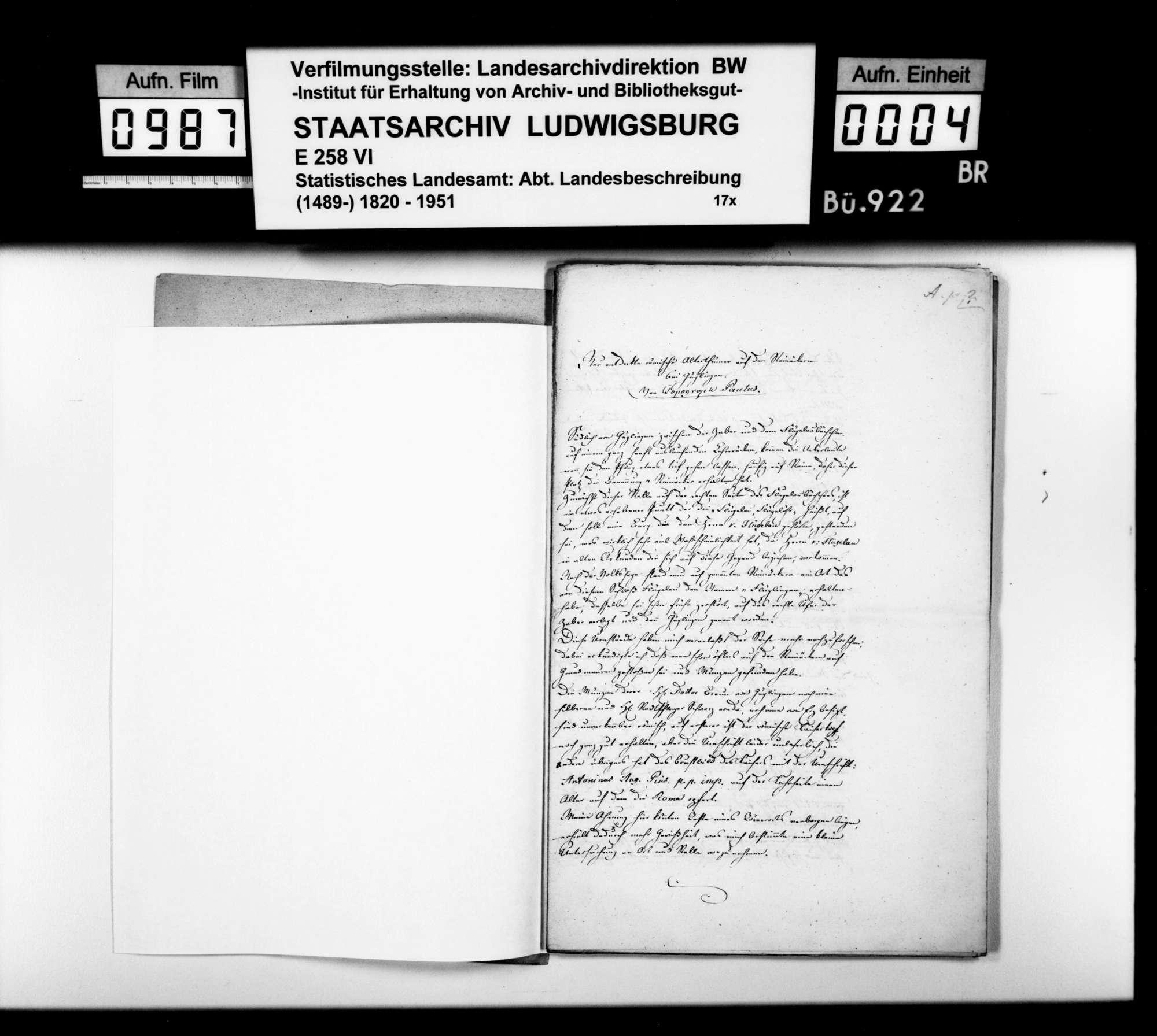 Mitteilungen des Topographen [Karl Eduard] Paulus über entdeckte Altertümer im Bezirk, Bild 3