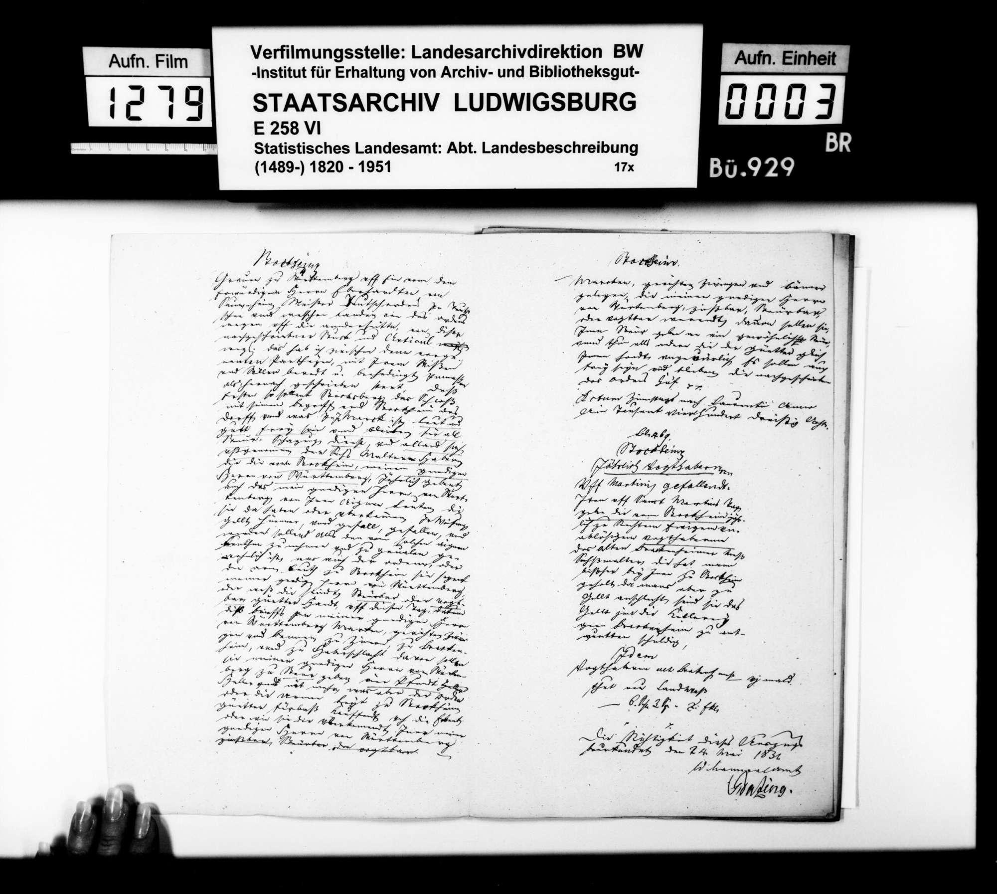 Auszüge aus Amtsbüchern als Materialsammlung [des Finanzrats Moser] zur Geschichte des Oberamtsbezirks, Bild 2