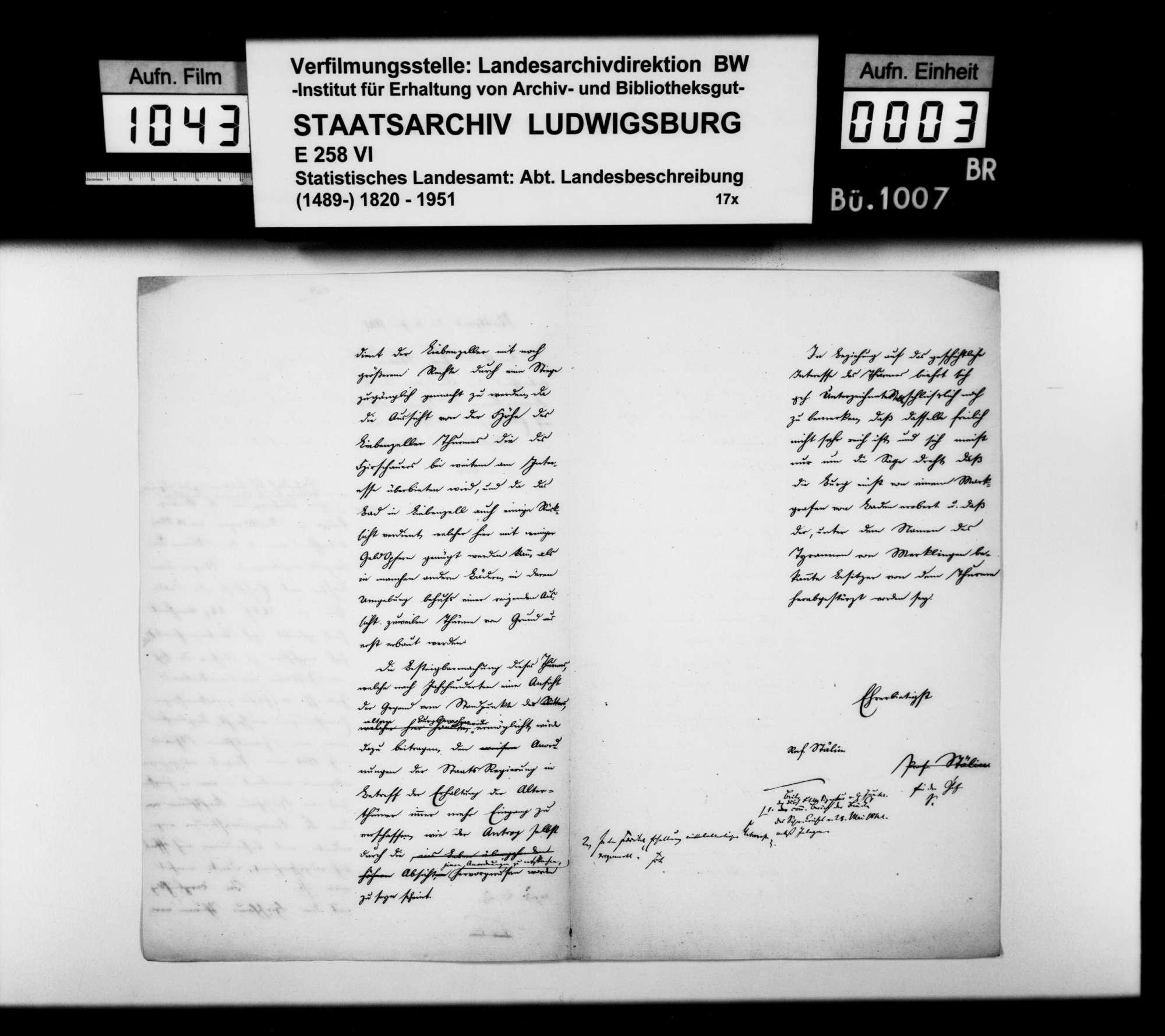 Gutachten des Professors [Christoph Friedrich] Stälin zum Antrag der Finanzkammer des Schwarzwaldkreises auf Bau einer Stiege in der Burgruine Liebenzell, Bild 2