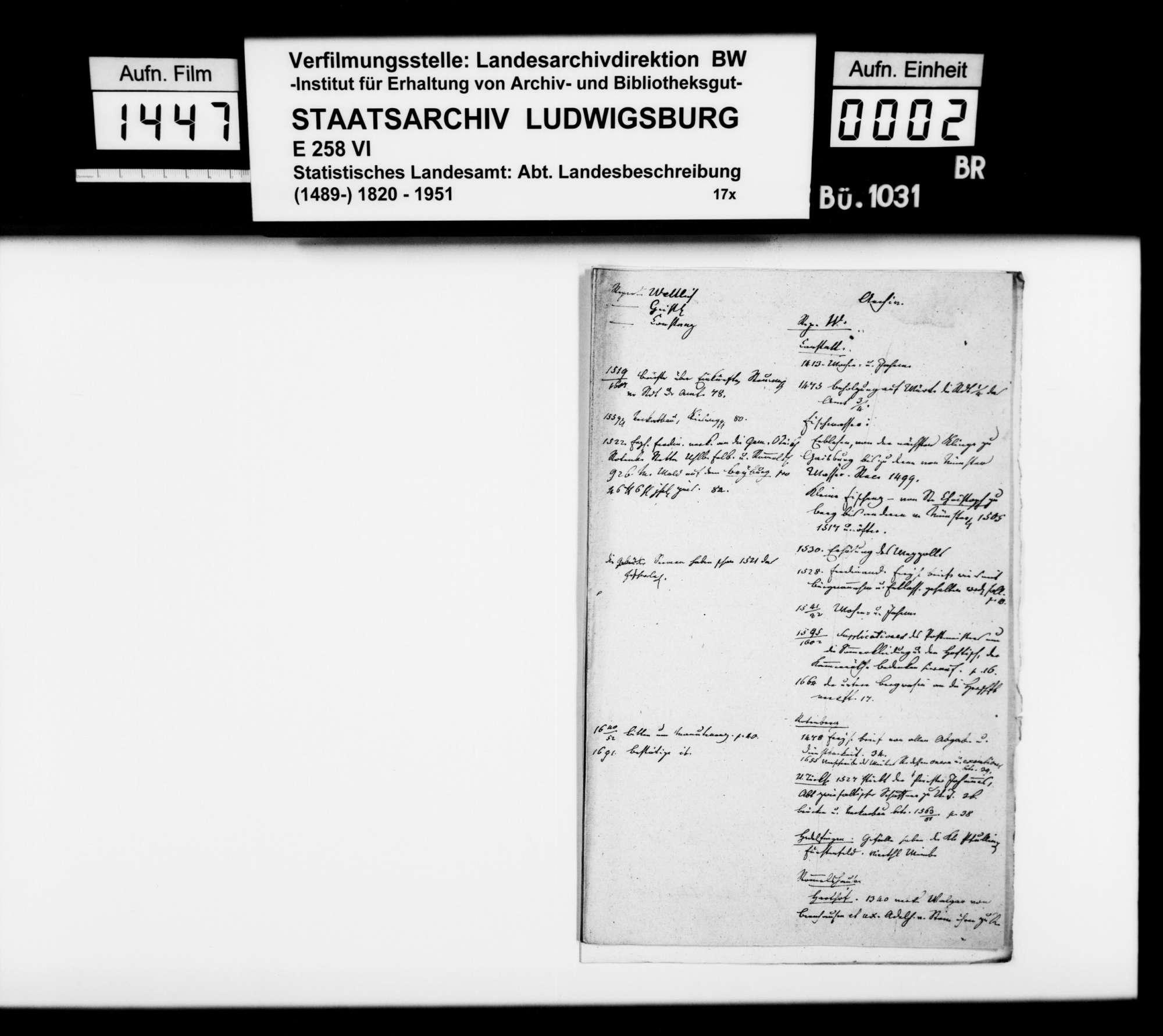 Exzerpte und Materialsammlung des Finanzrats Memminger zur OAB, Bild 1