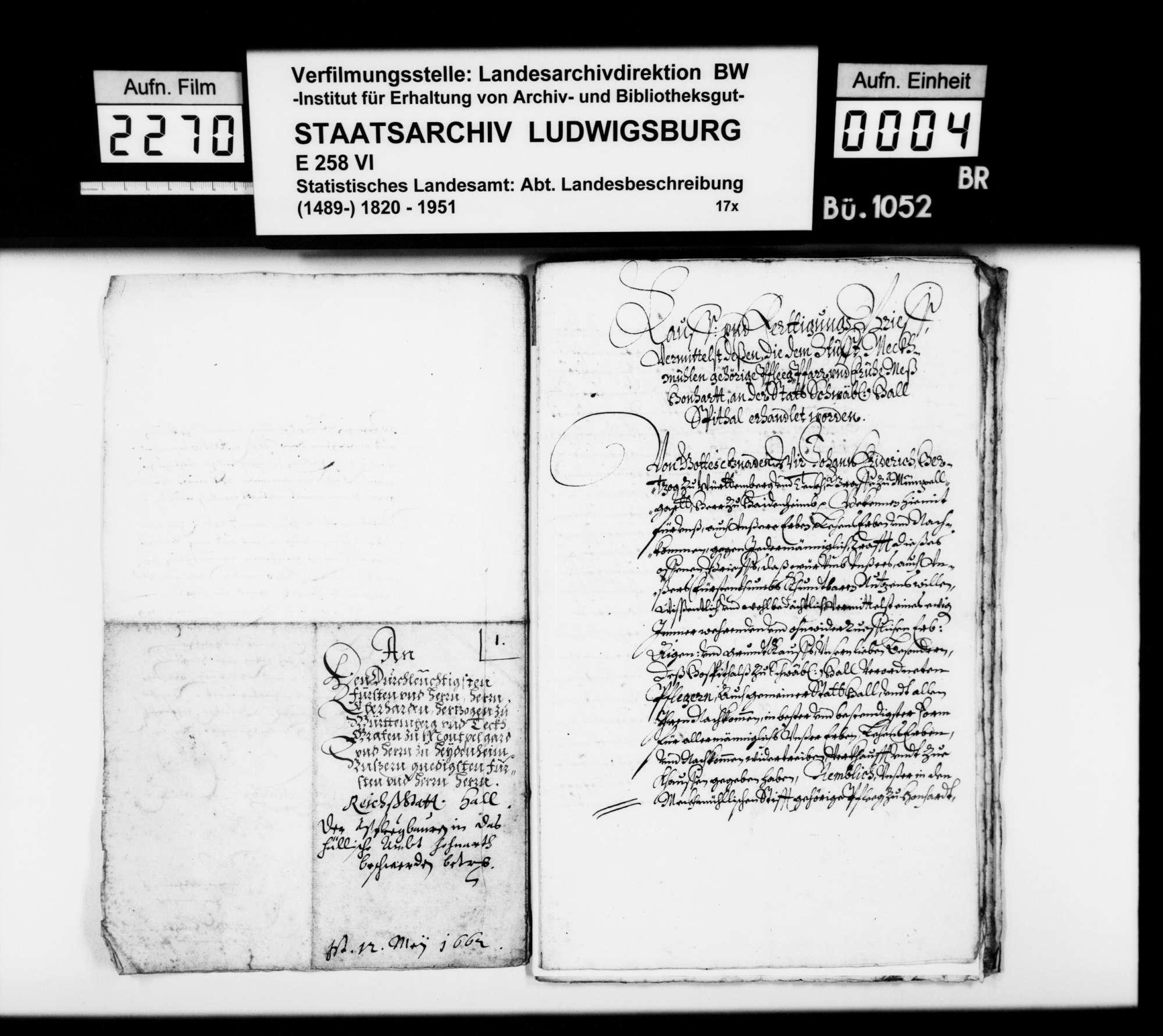 Besitz der (württembergischen) Stiftspflege Möckmühl in Honhardt [aus der Materialsammlung des Finanzrats Rudolf Moser; siehe OAB S. 313f], Bild 3