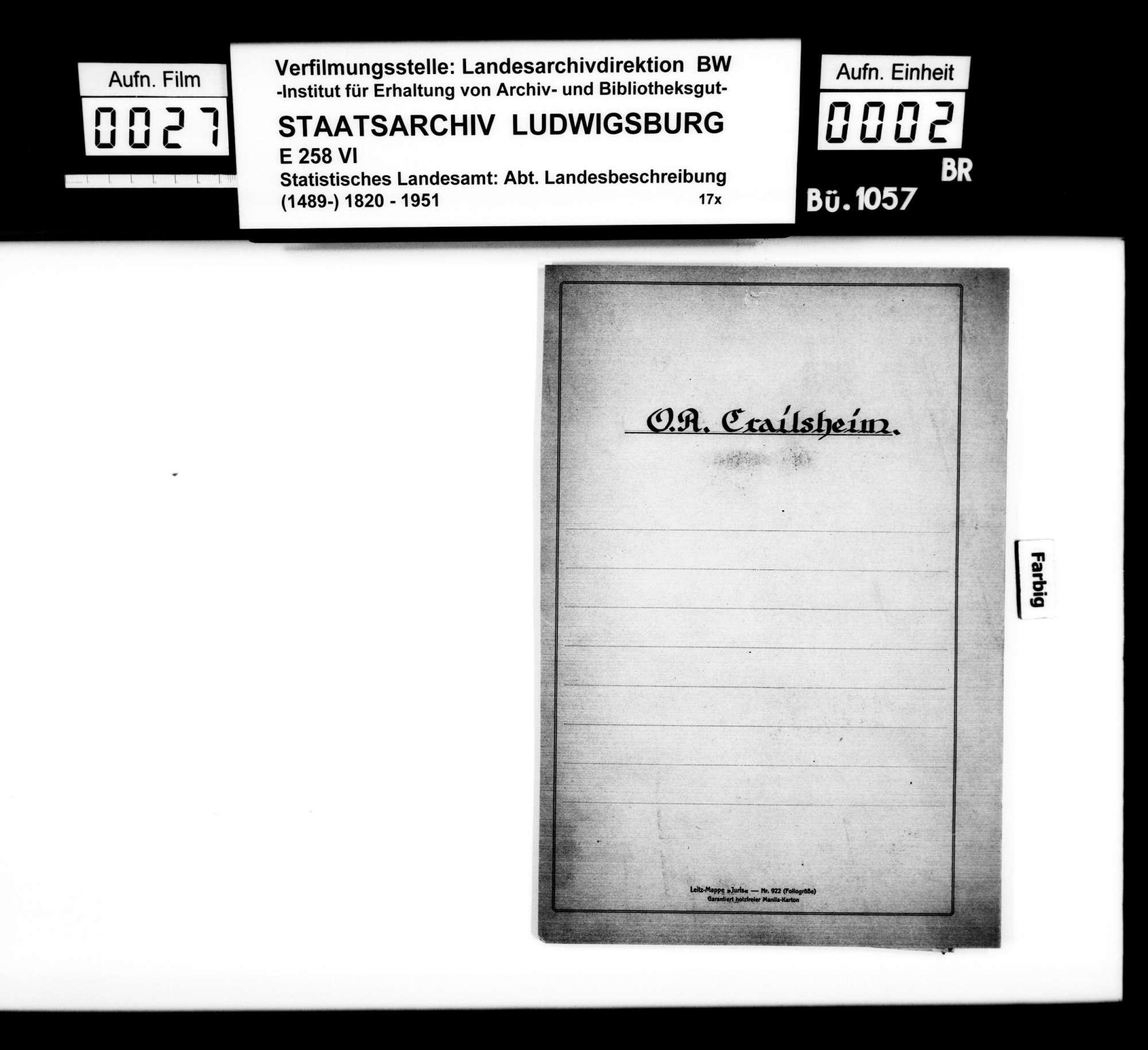Sammlung gedruckten Materials zur Ortsnamen- und Volkskunde, Bild 1