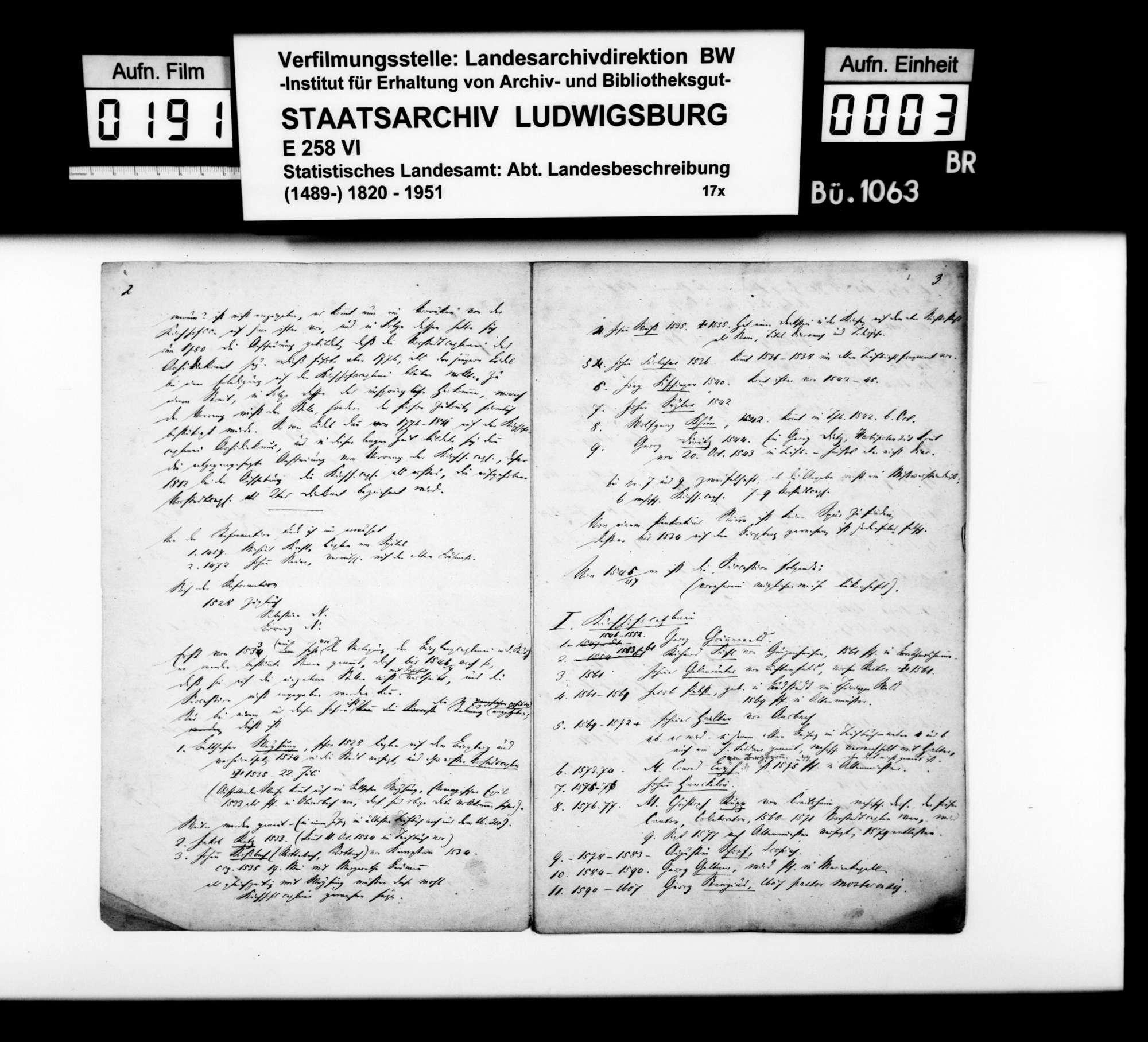 Liste der Pfarrer, Kapläne und Lehrer der Lateinschule in Crailsheim vom 15. bzw. 16. bis ins 19. Jh., Bild 2