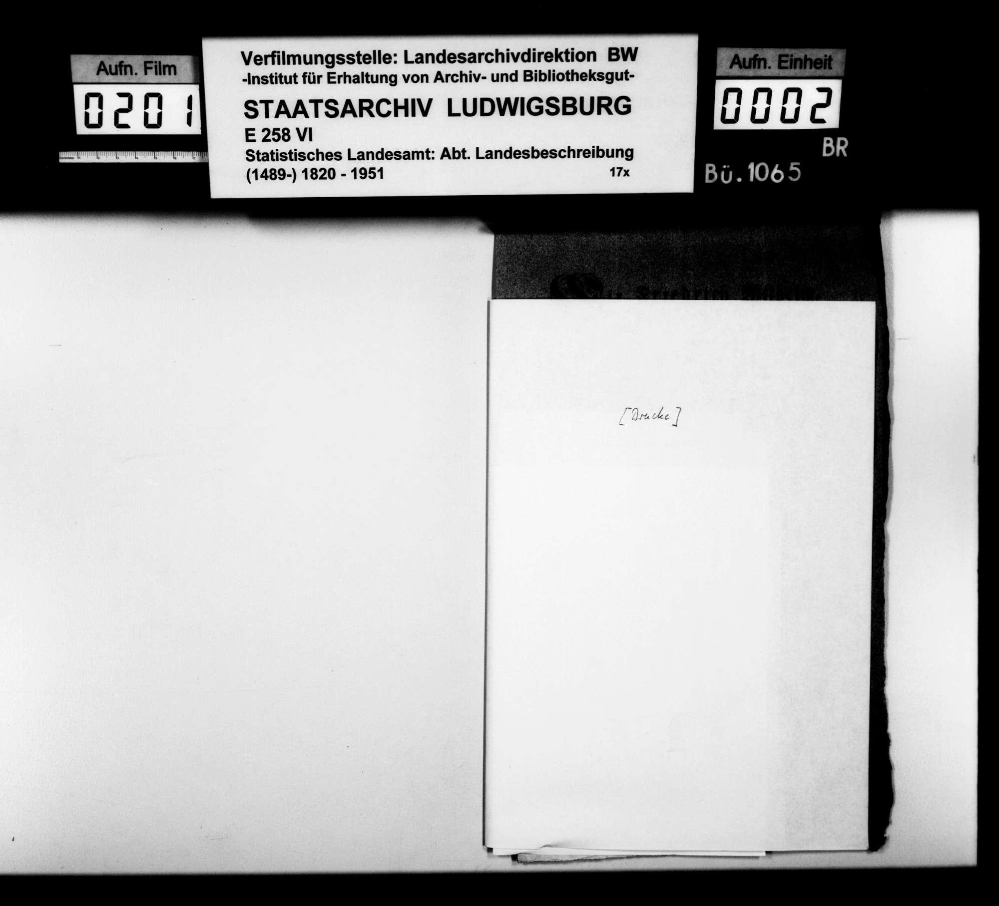 Ortsbeschreibung von Crailsheim mit vom Gemeinschaftlichen Amt ausgefülltem gedruckten Fragebogen des STBs, Bild 1