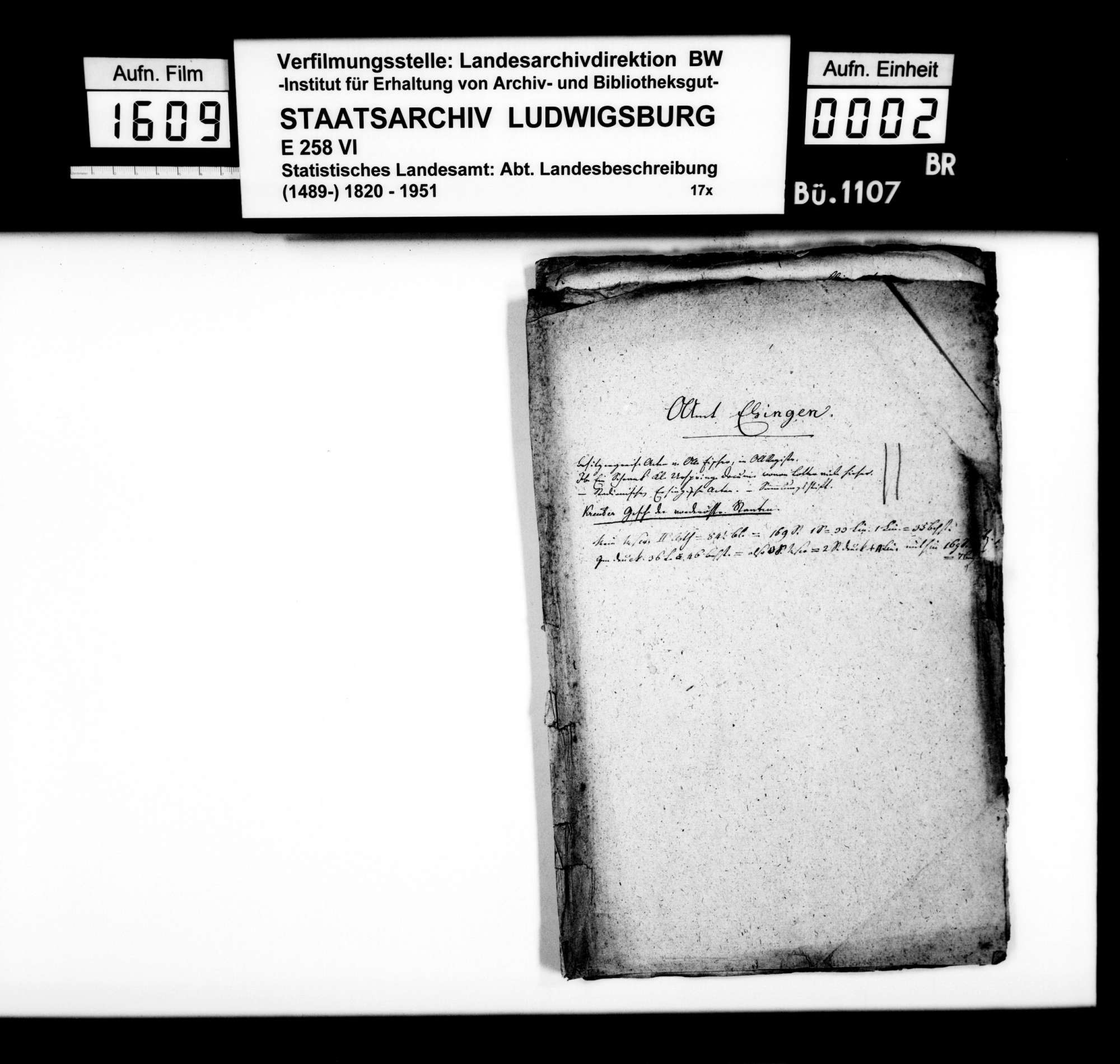 Notizen und Konzepte [des Professors Memminger] zur Geschichte im Oberamt, Bild 1