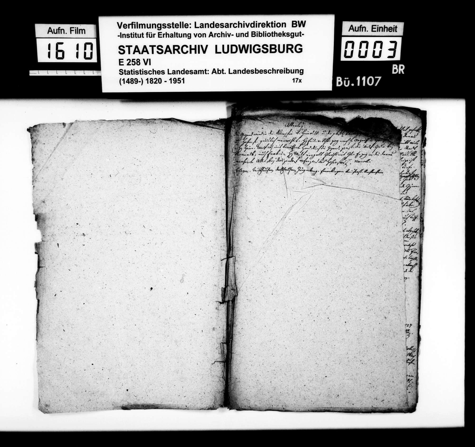 Notizen und Konzepte [des Professors Memminger] zur Geschichte im Oberamt, Bild 2