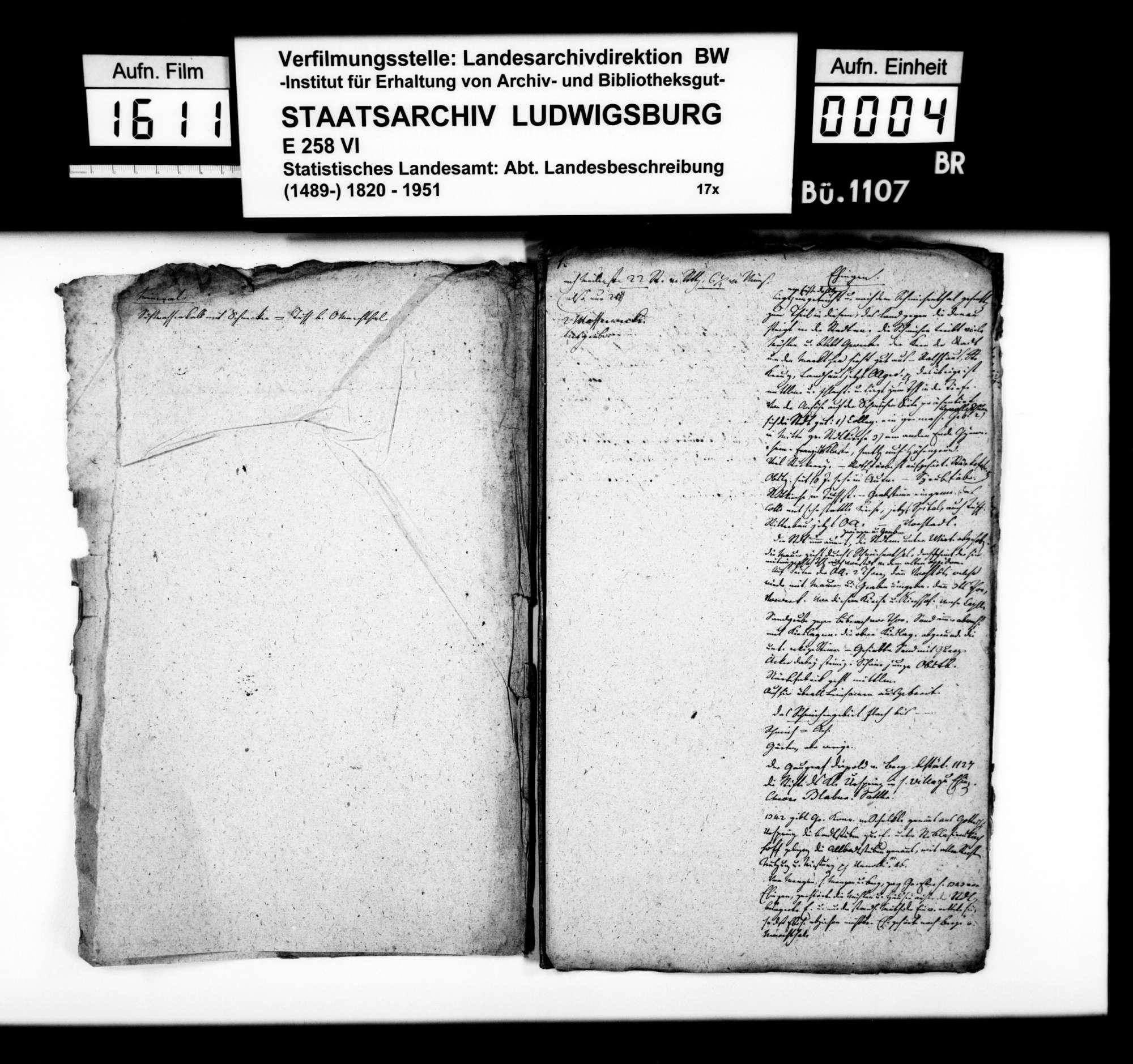 Notizen und Konzepte [des Professors Memminger] zur Geschichte im Oberamt, Bild 3
