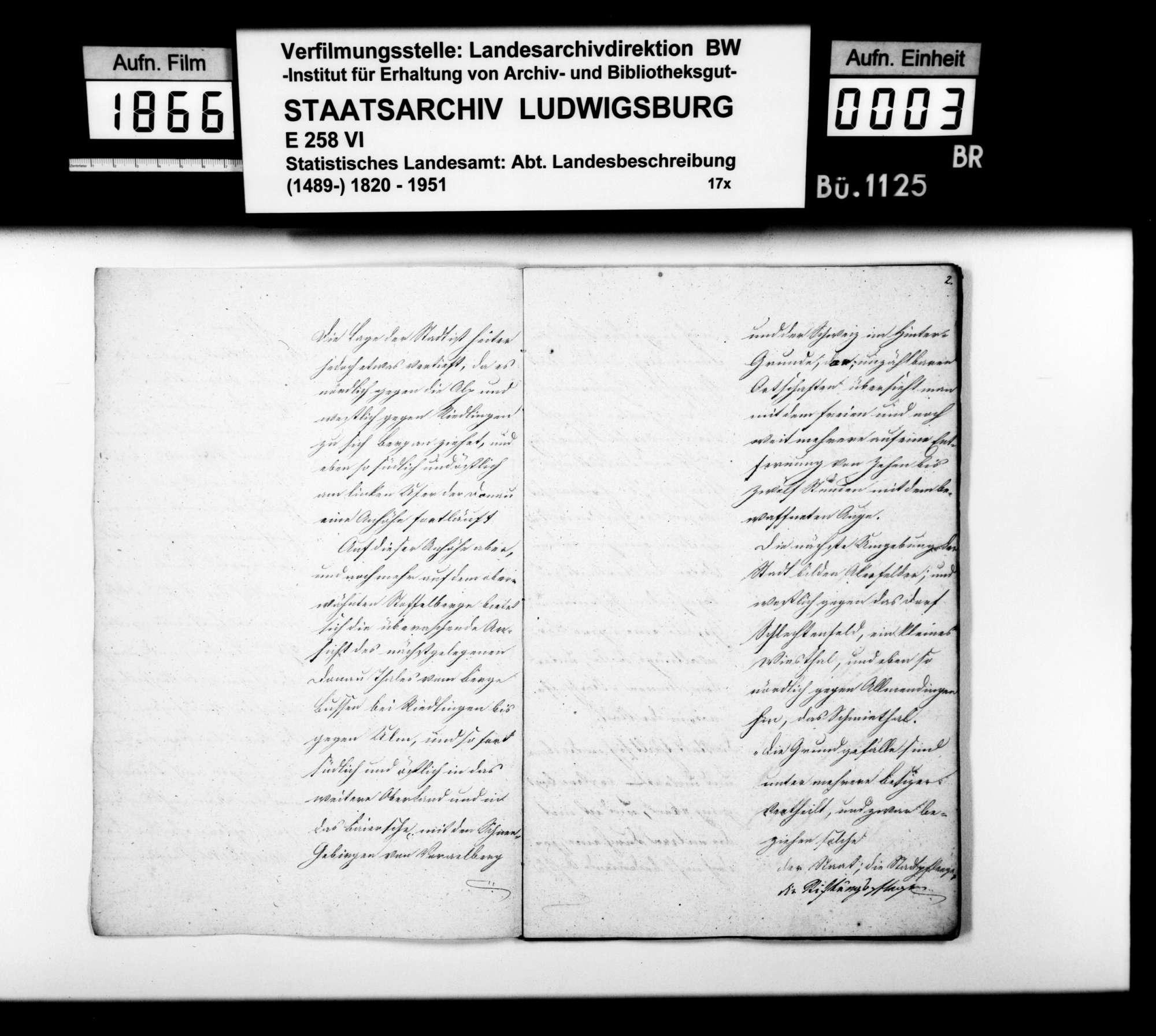 Abhandlung des Schultheißen Vogt zur Oberamtsstadt Ehingen, Bild 2
