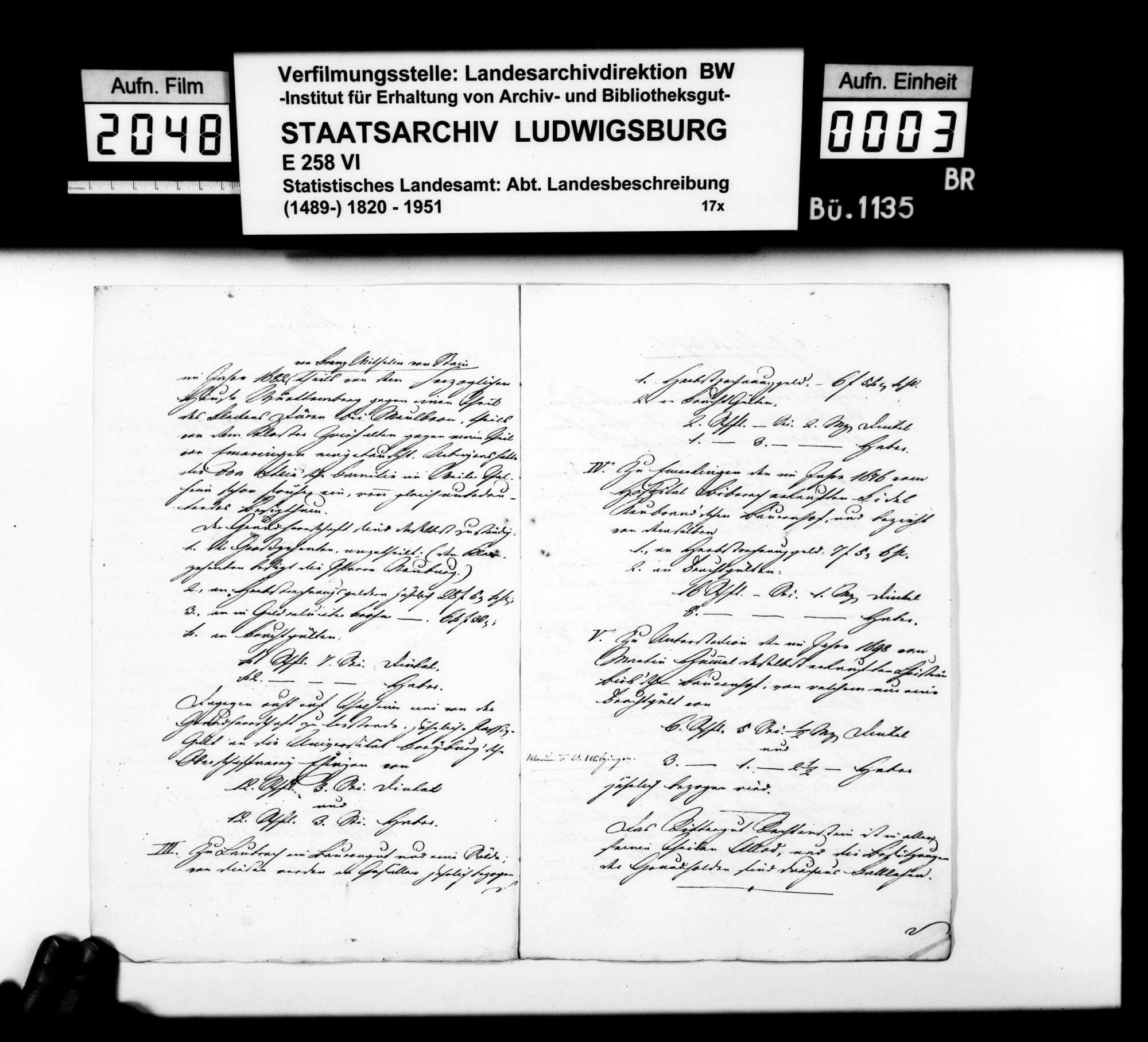 Mitteilung des Rentbeamten Eser aus Hürbel über das Rittergut Rechtenstein, Bild 2