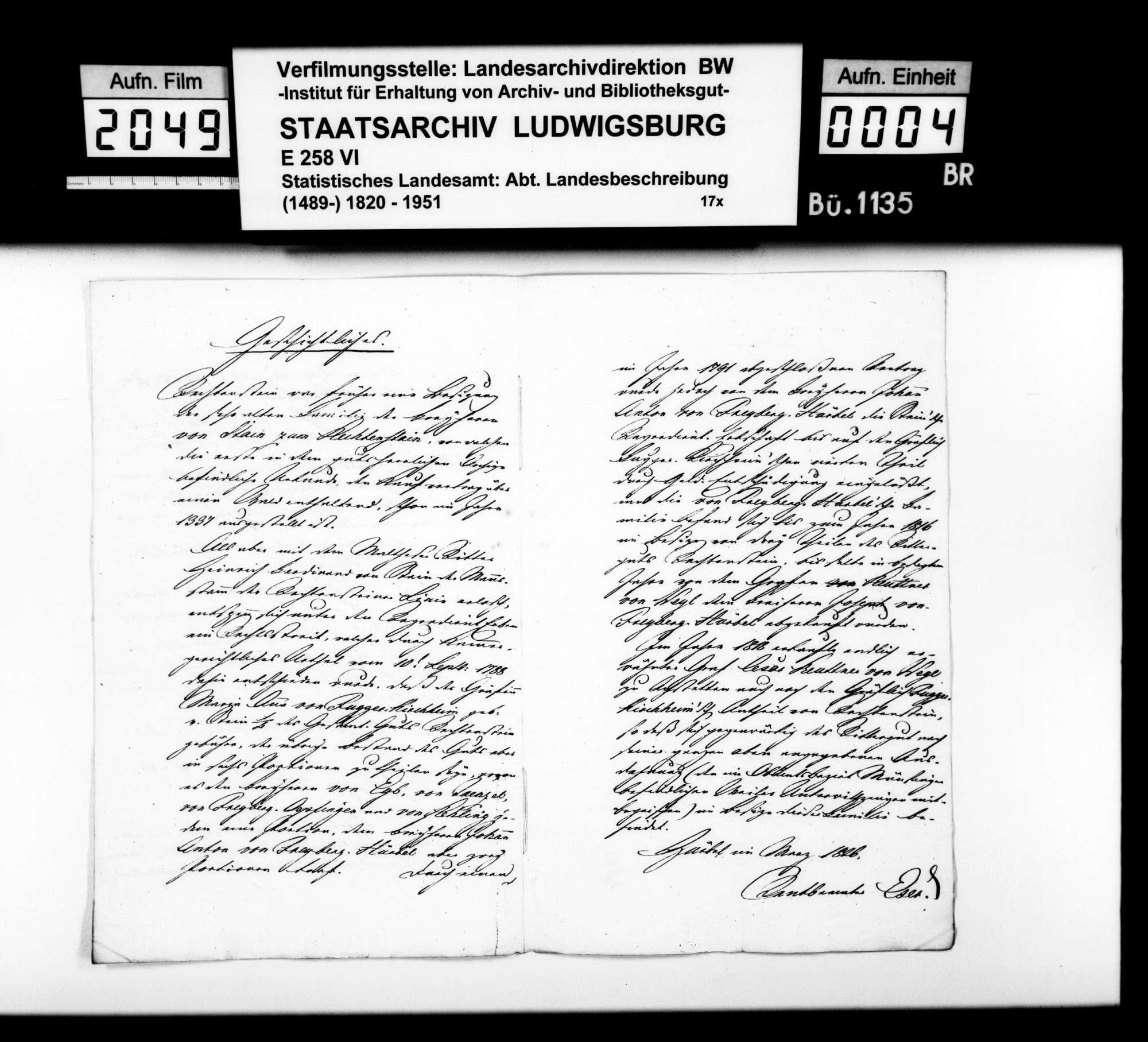 Mitteilung des Rentbeamten Eser aus Hürbel über das Rittergut Rechtenstein, Bild 3